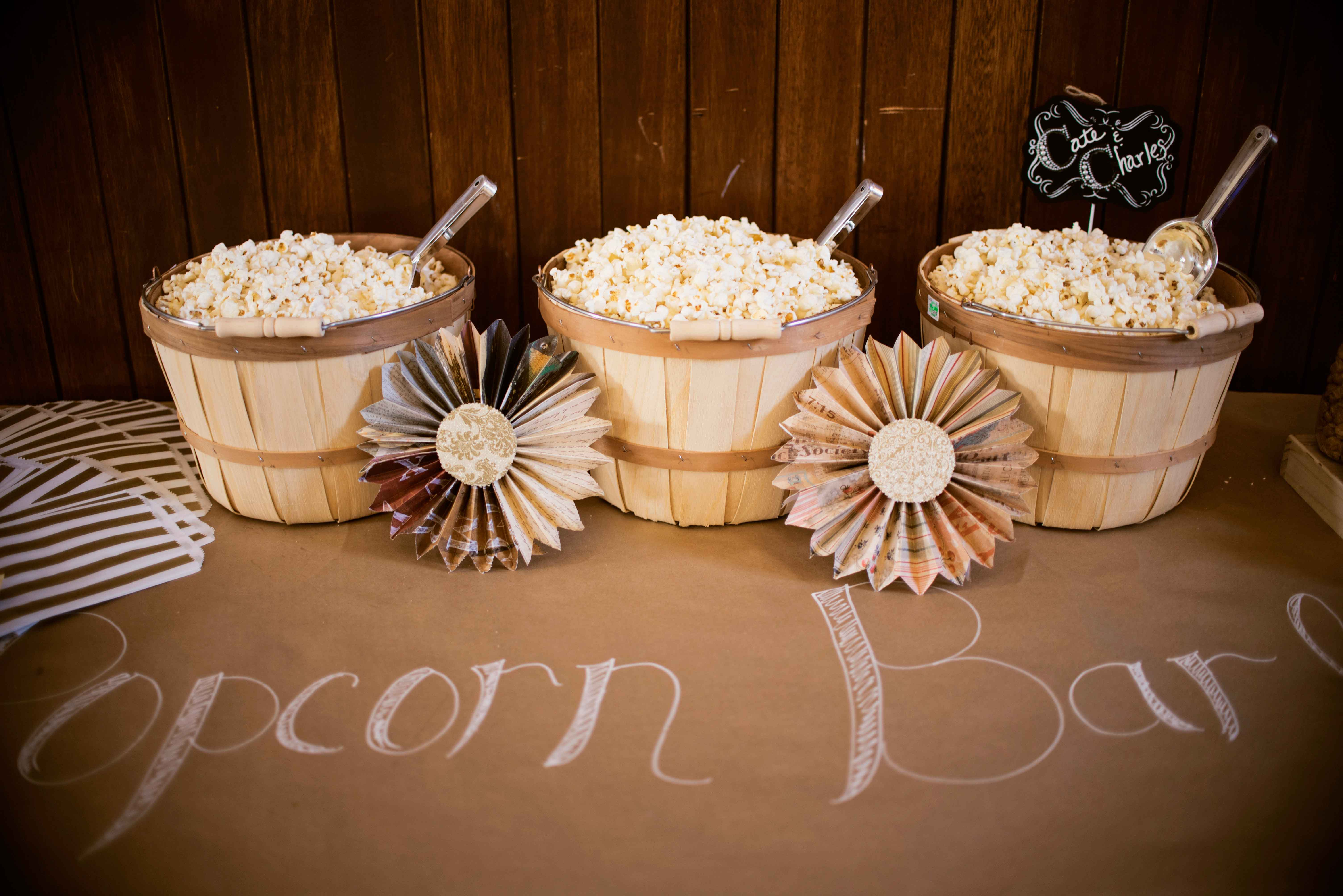 DIY Popcorn Bar at Miss Rockabilly Ruby wedding