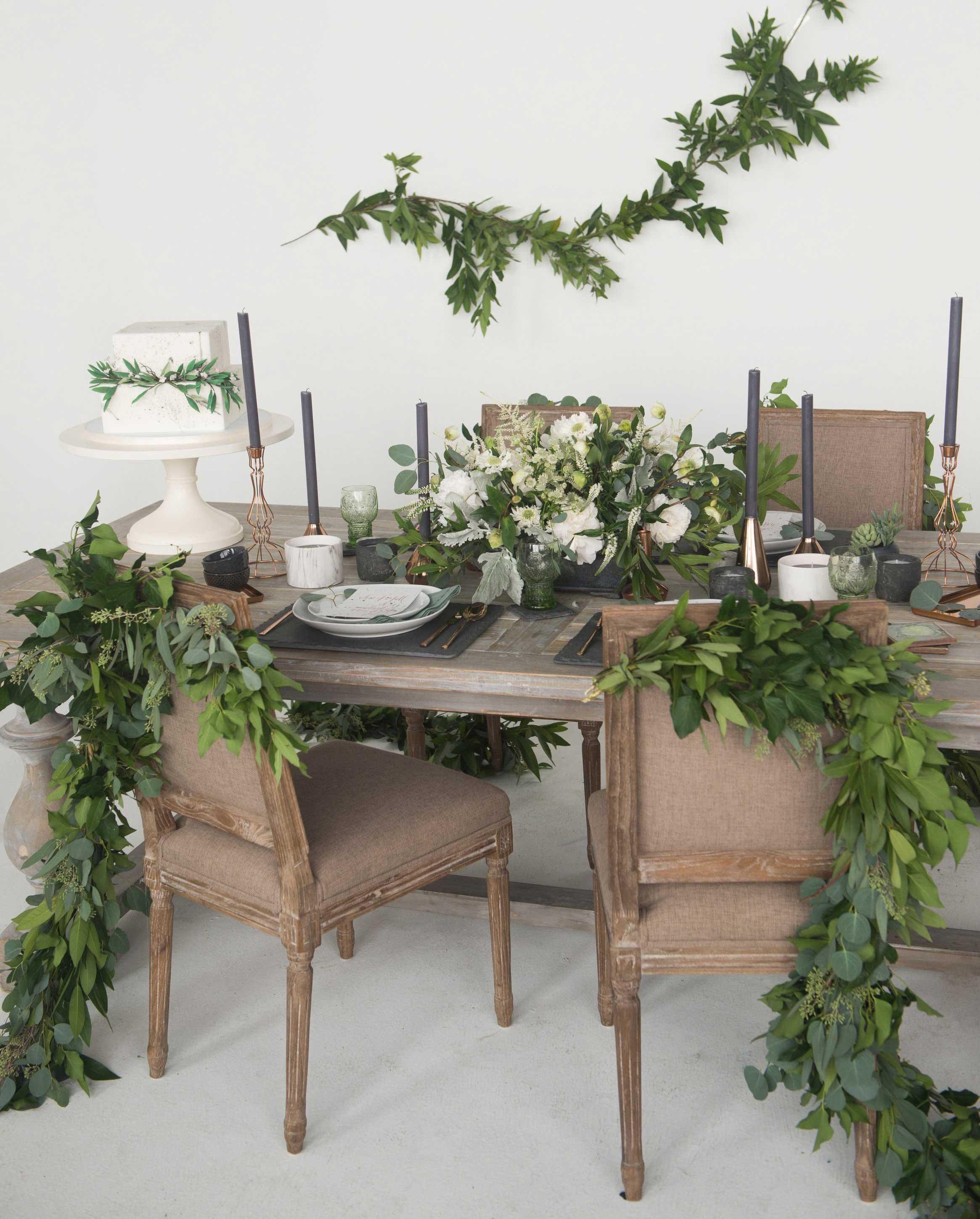 EVOKE DC Modern Whimsy wedding table idea rustic wedding