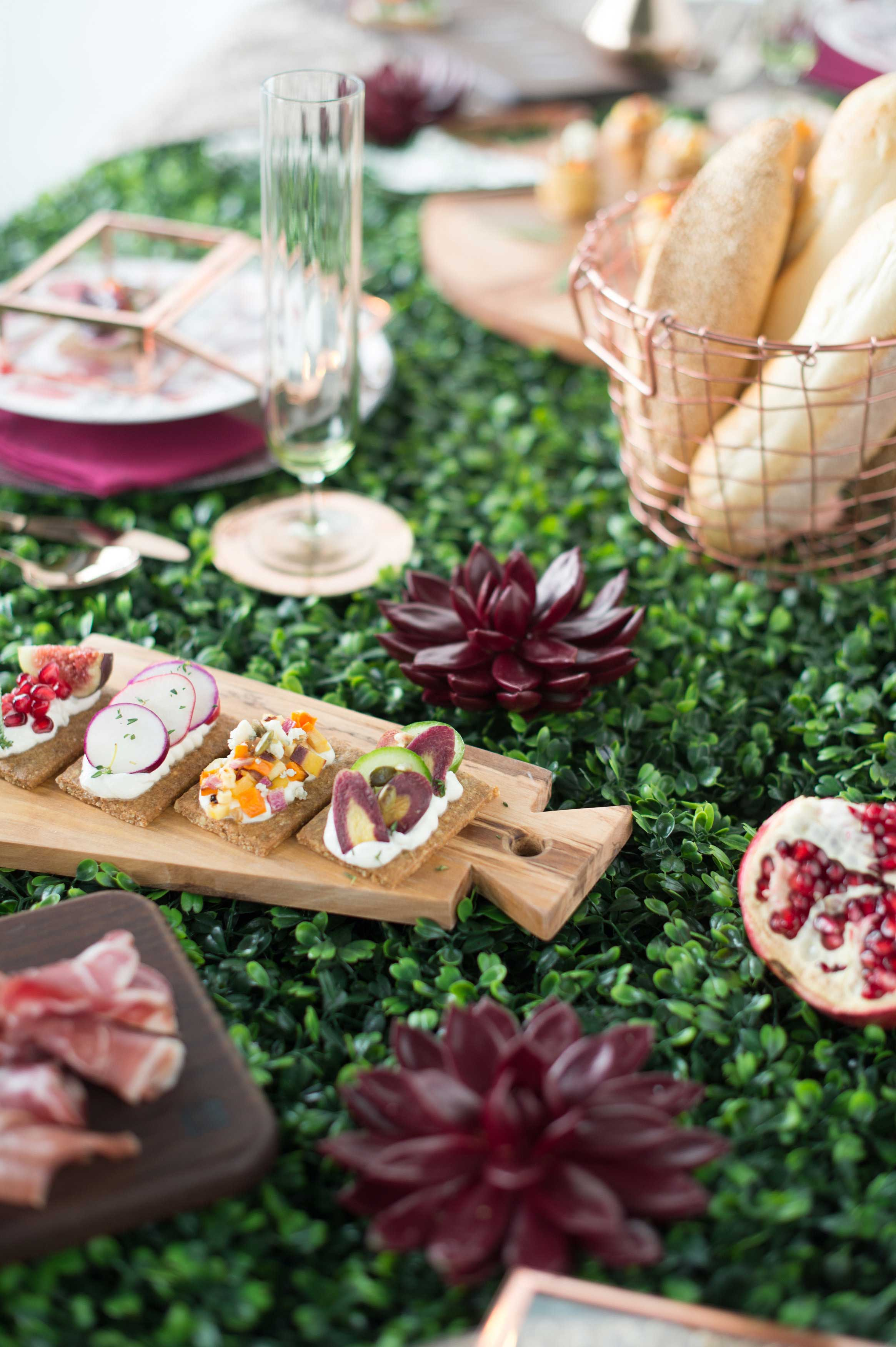 EVOKE DC Flights and Bites appetizer crostini hors d'oeuvres