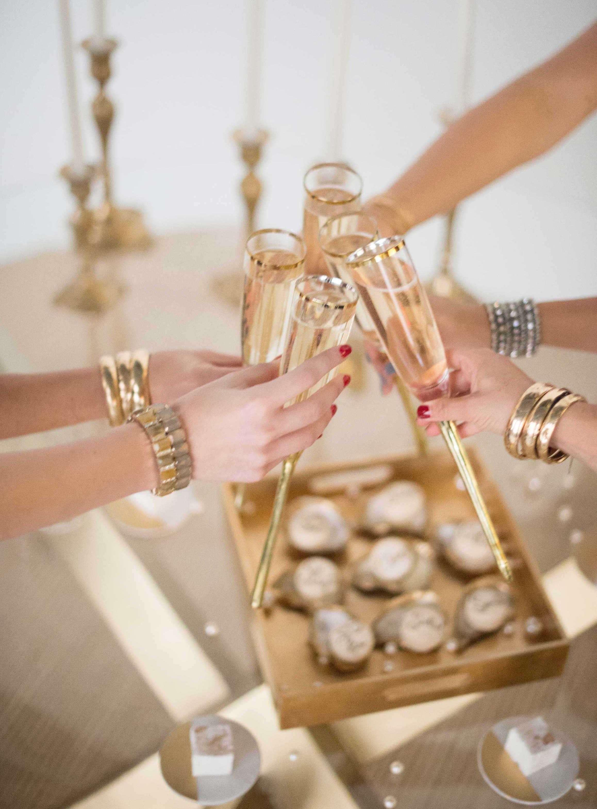 EVOKE DC Seasons of Cocktails winter wedding cocktail idea champagne