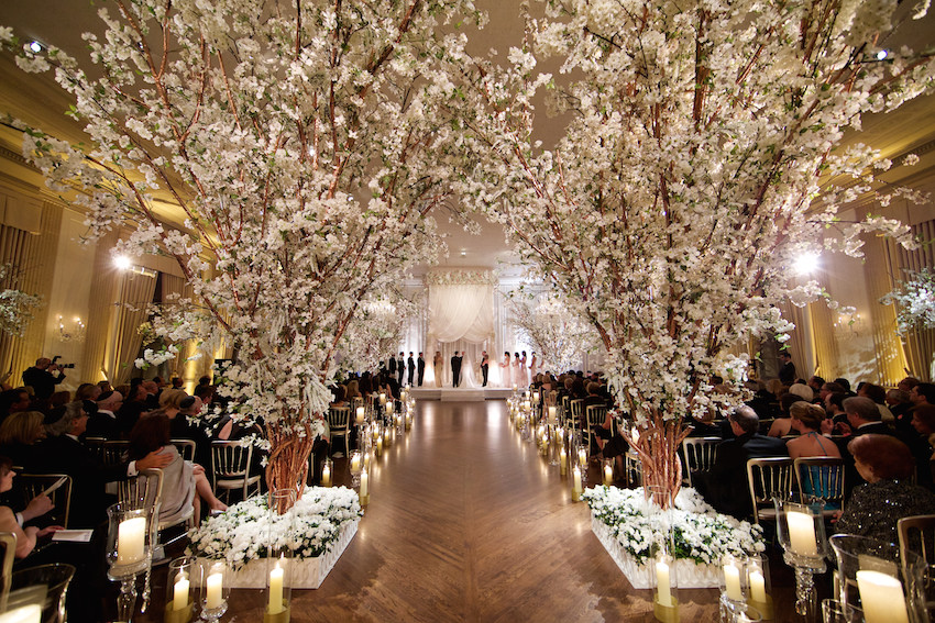 Wedding Ceremony Decorations Rose Gold Cherry Blossom Tree Branches