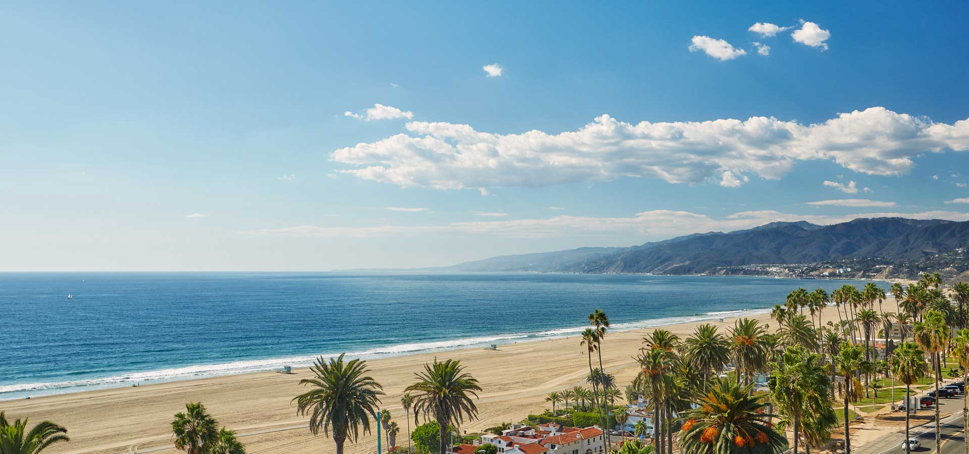 Santa Monica Beach views from Fairmont Miramar Hotel & Bungalows