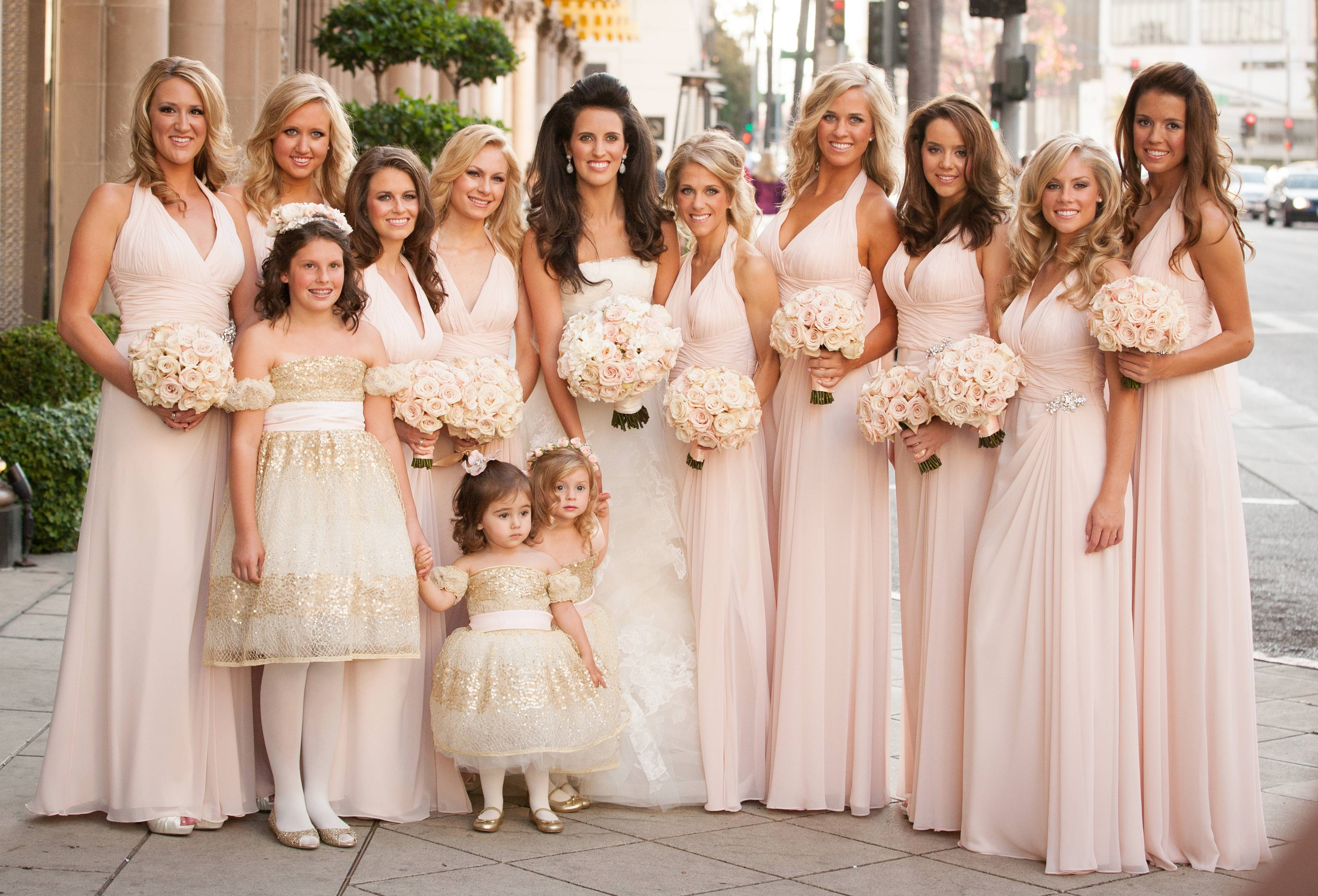 Bridesmaid Dresses: Blush Bridesmaid Gowns from Real Weddings ...