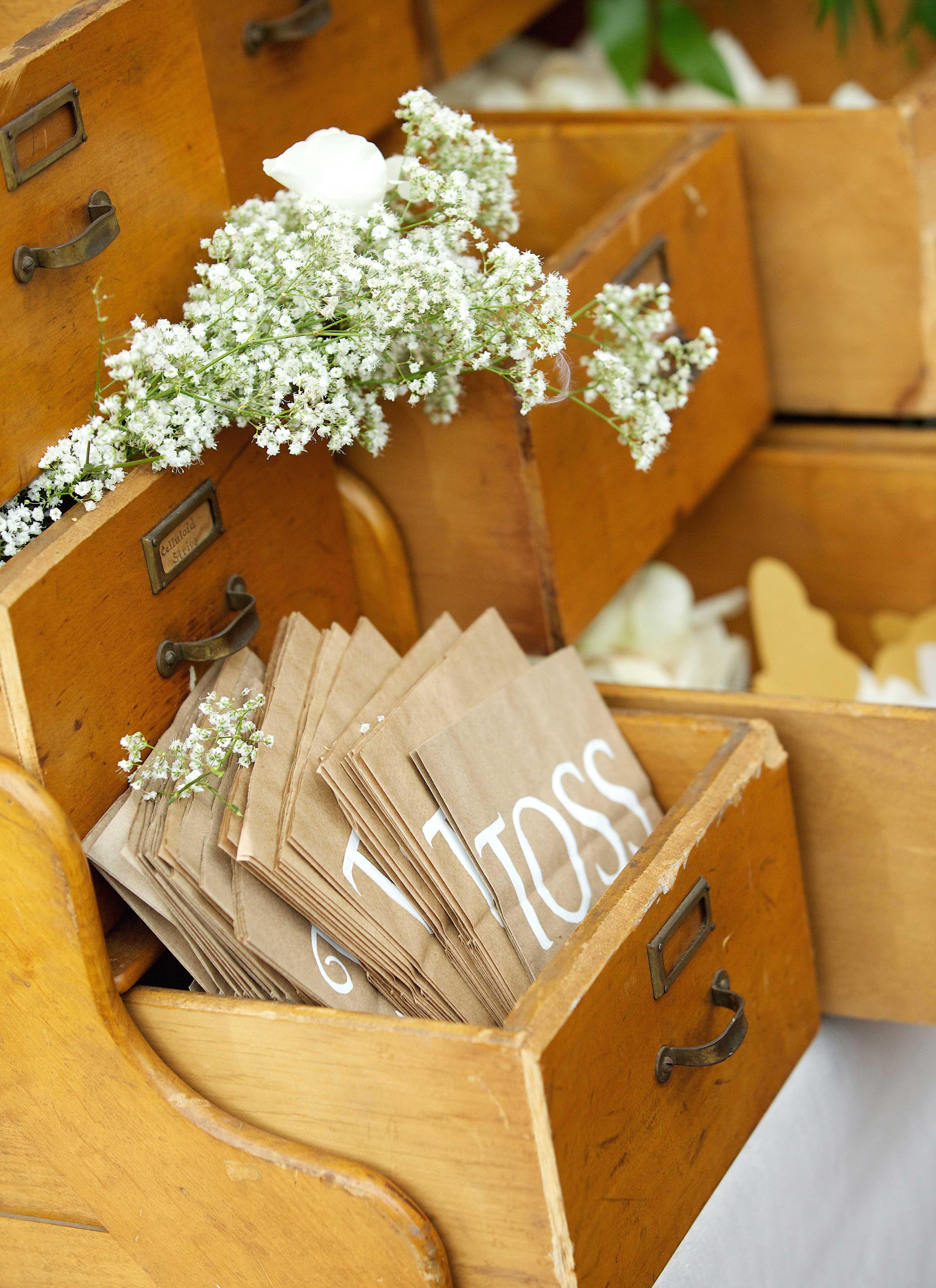 garden wedding inspiration, toss petals during recessional