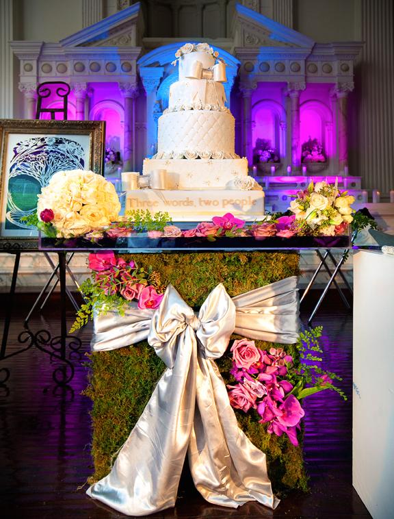 garden wedding inspiration cake stand