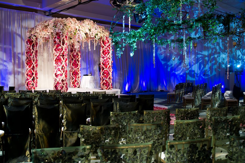 garden wedding inspiration, ceremony chairs