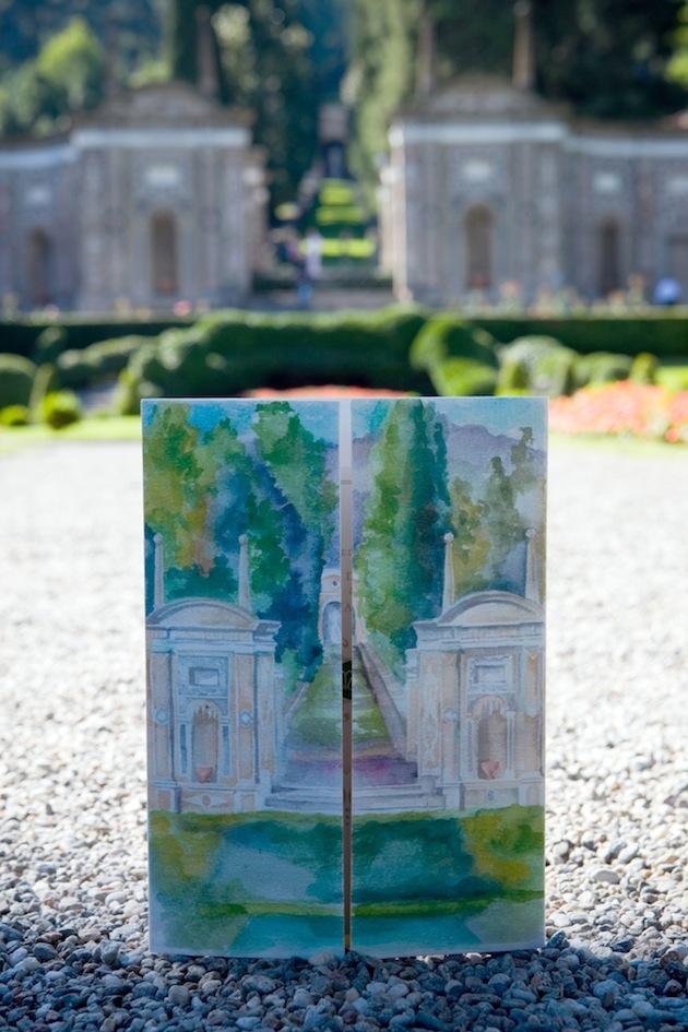 garden wedding inspiration, watercolor invitations