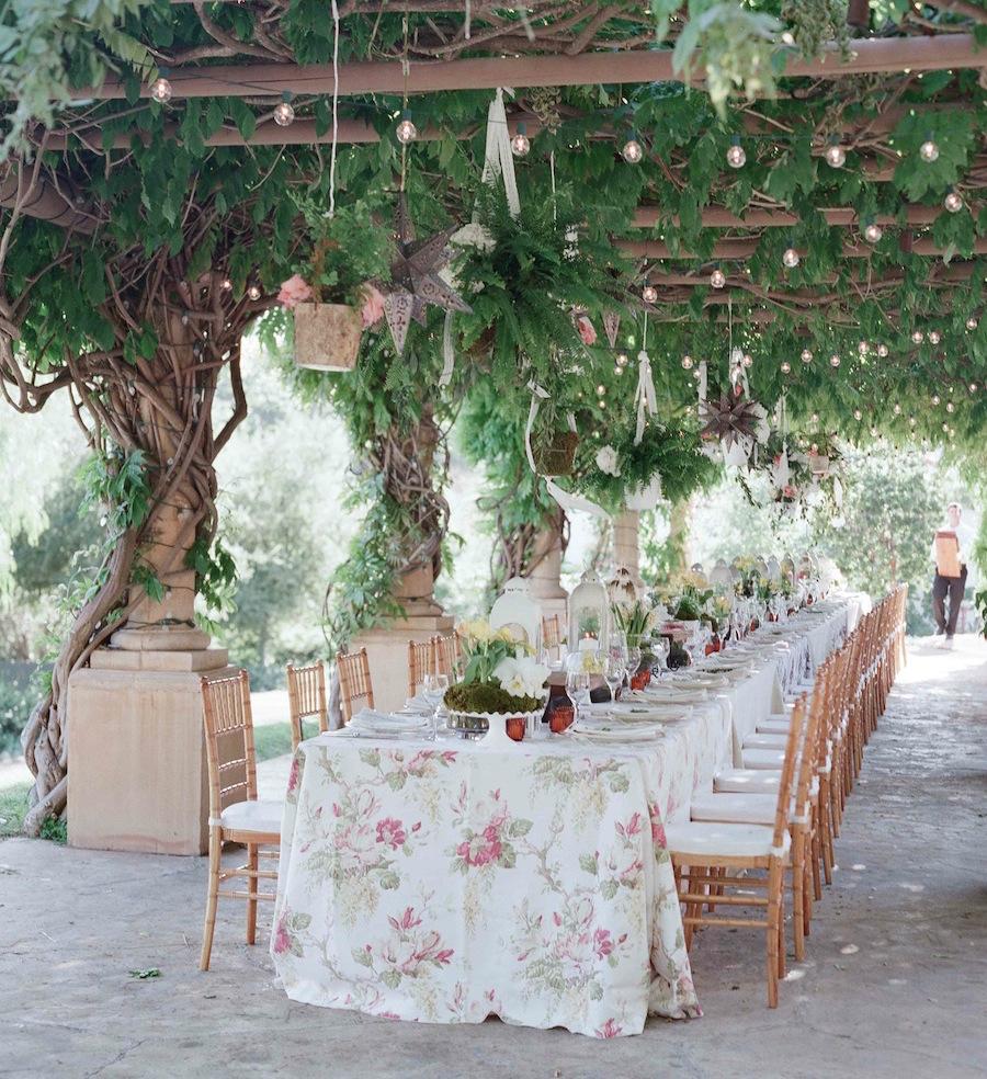 garden wedding inspiration, rehearsal dinner