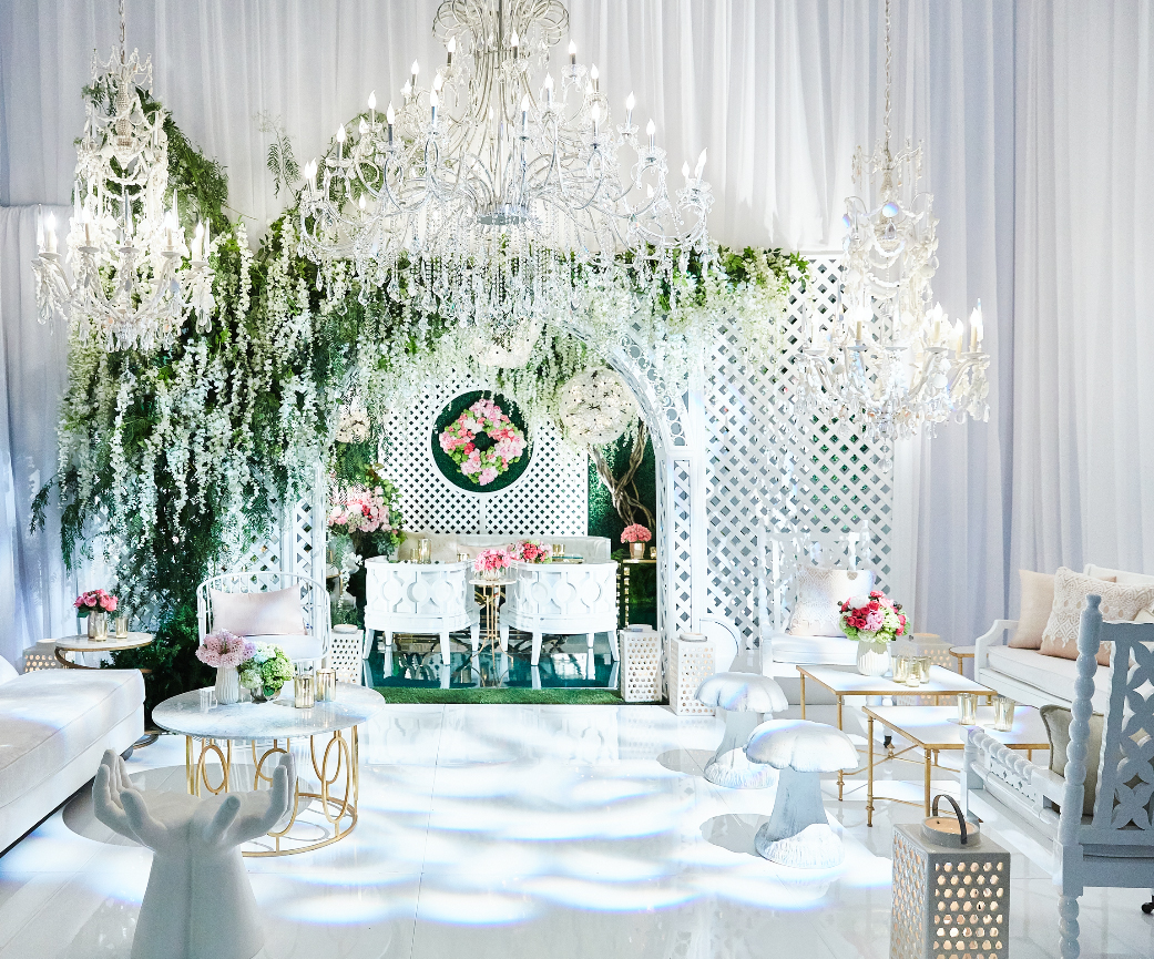 Revelry Event Designers white furniture collection