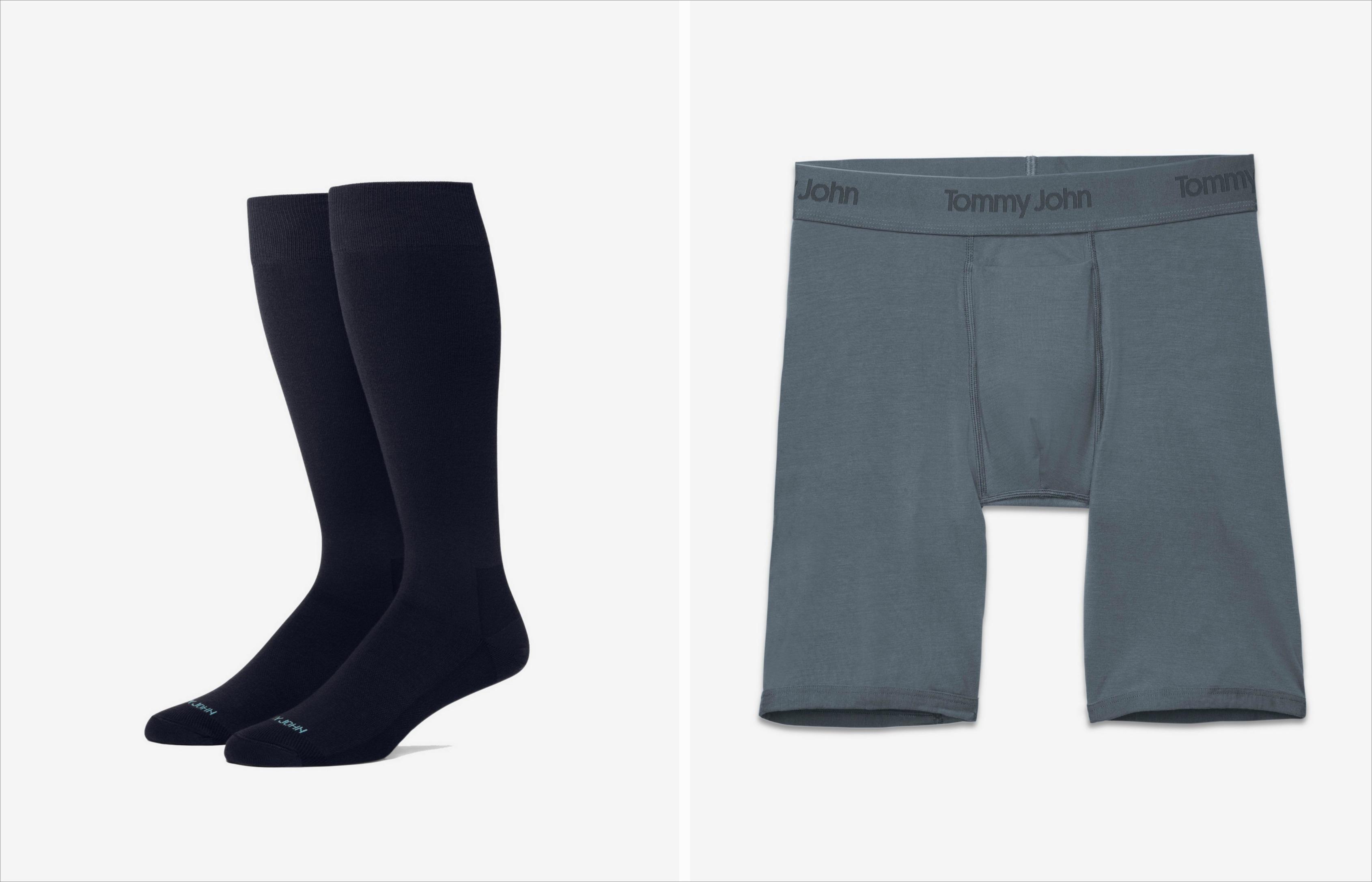 Tommy John socks and underwear for men