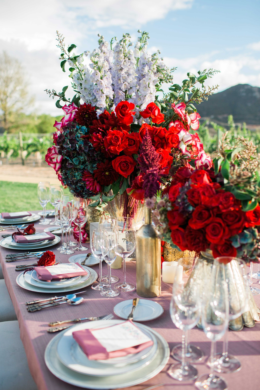 valentine's day inspired wedding styled shoot