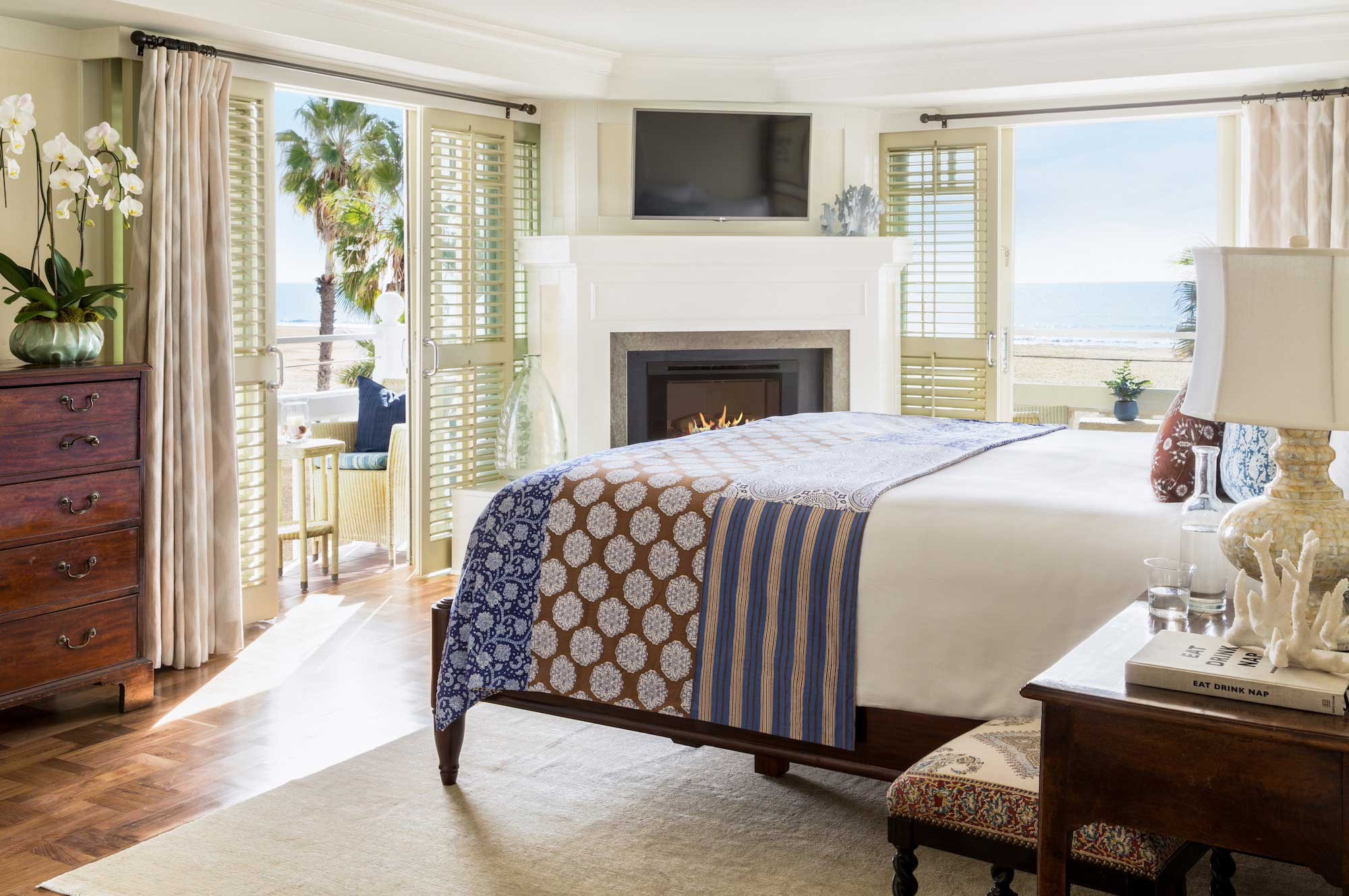 Shutters on the Beach bedroom with view of beach ocean