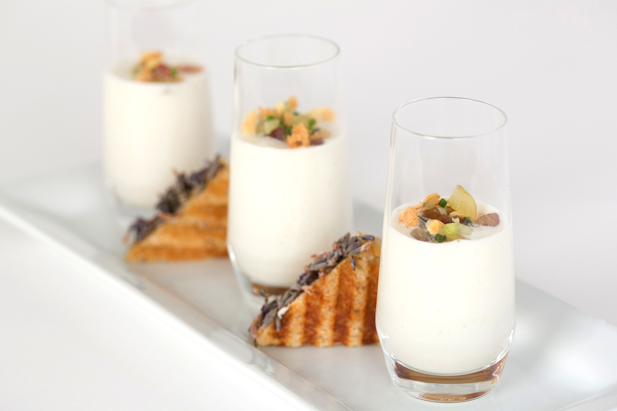 White Gazpacho Good Gracious! Events catering