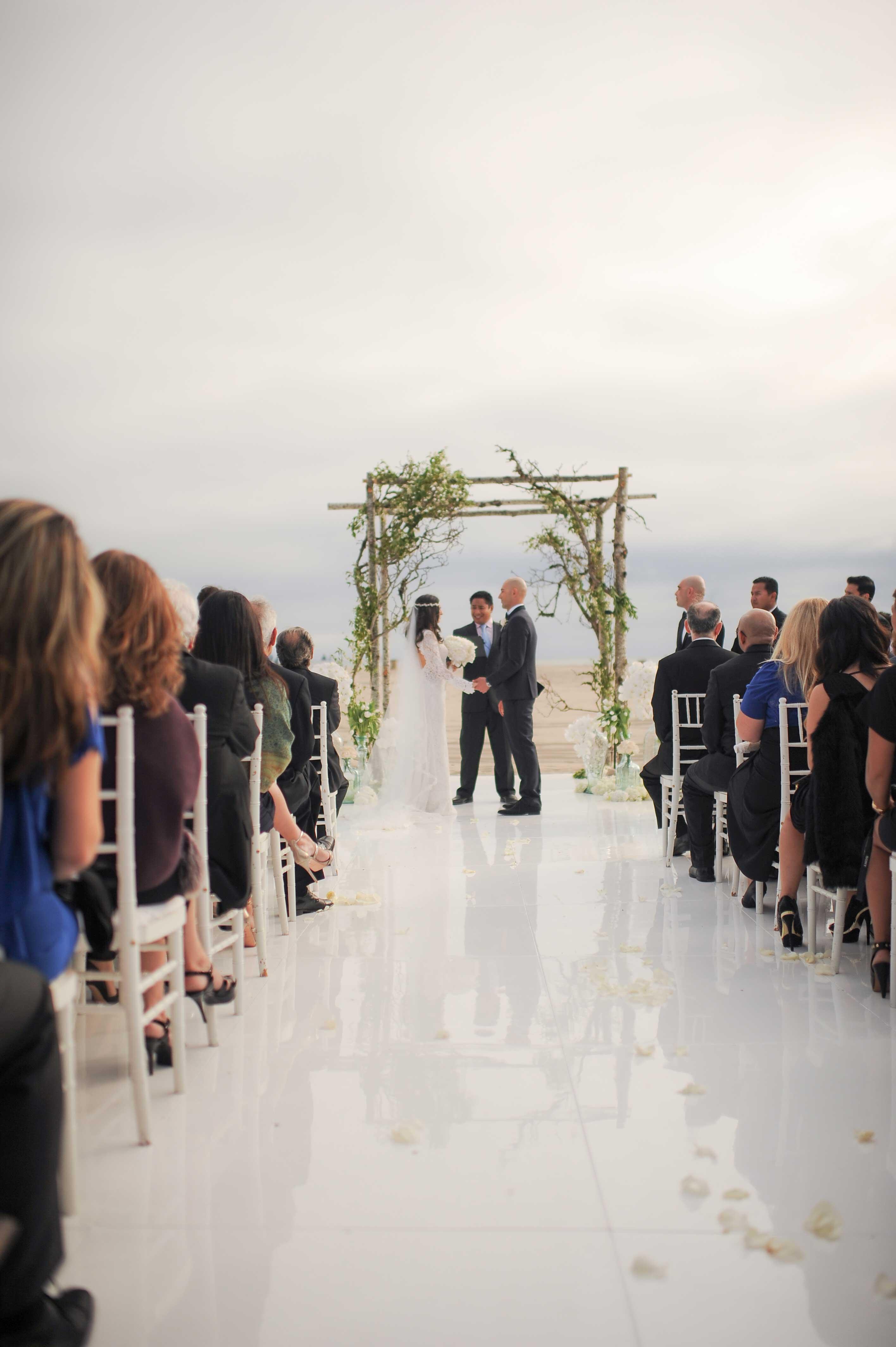 Wedding at Hotel Casa Del Mar on beach in Santa Monica, California