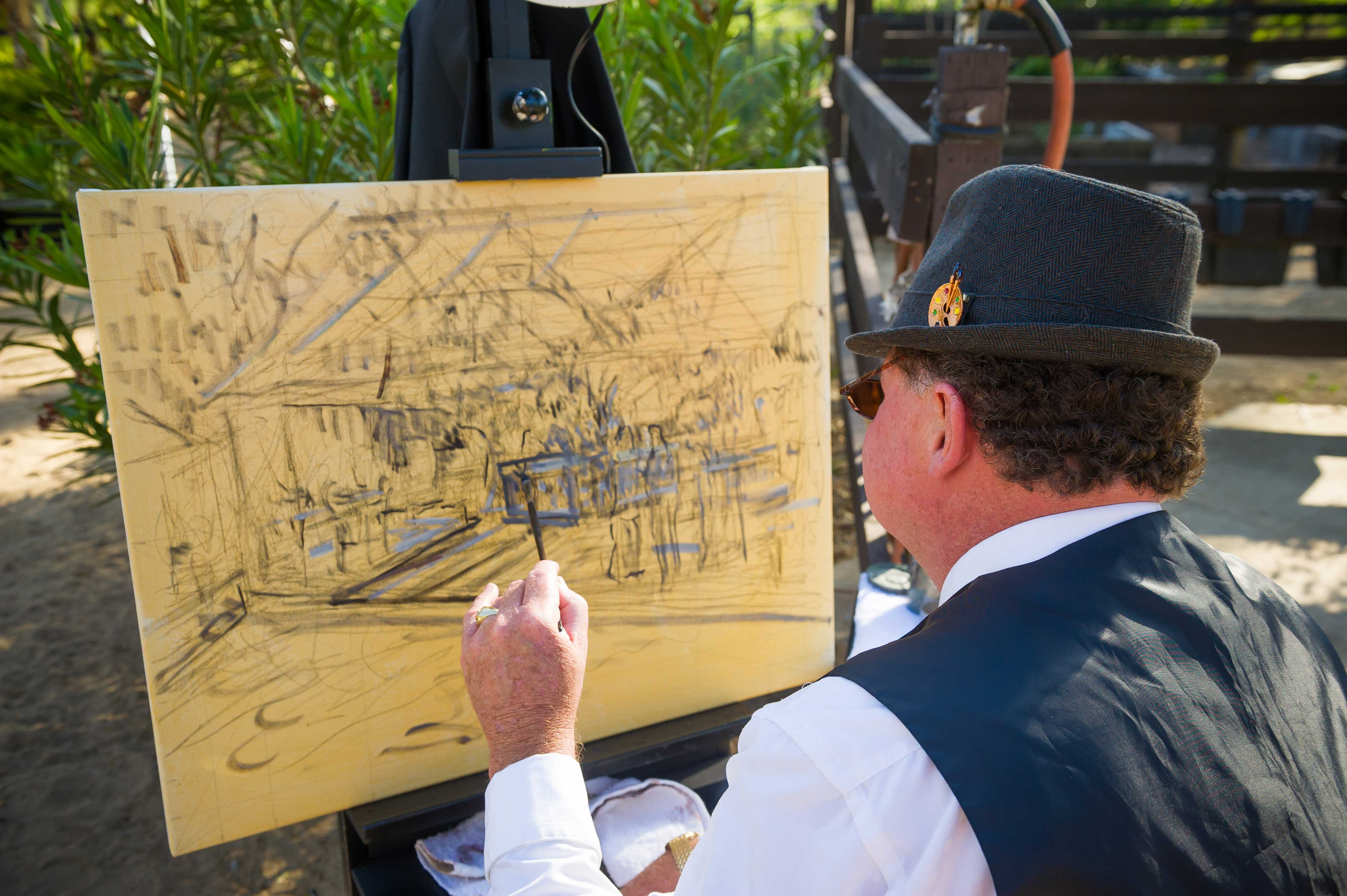 Sketch from live event painter artist Details Defined party at Painted Sky Ranch