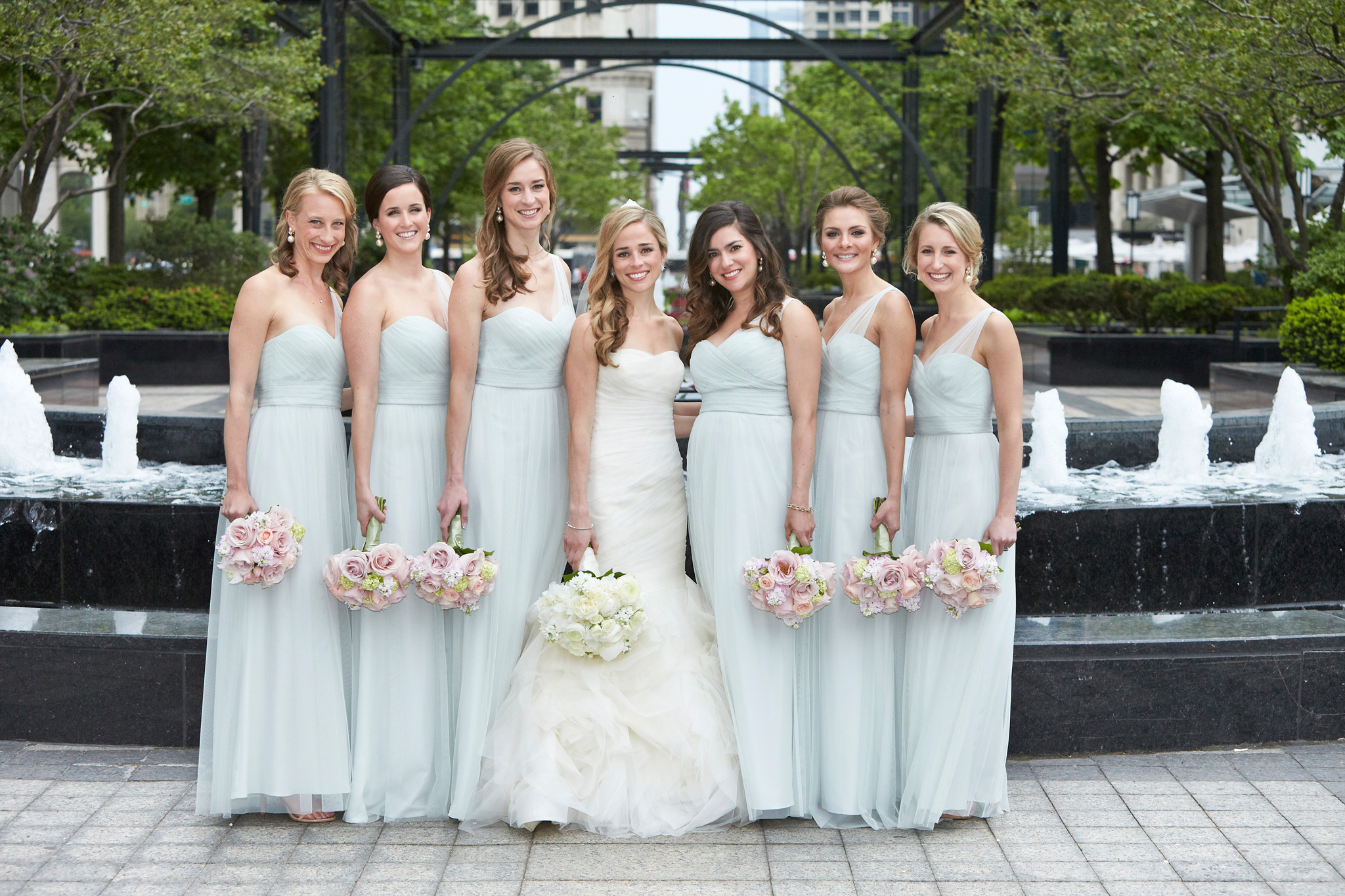 0c460cc57f7 The Pros and Cons of Matching Bridesmaid Dresses for Your Wedding - Inside  Weddings