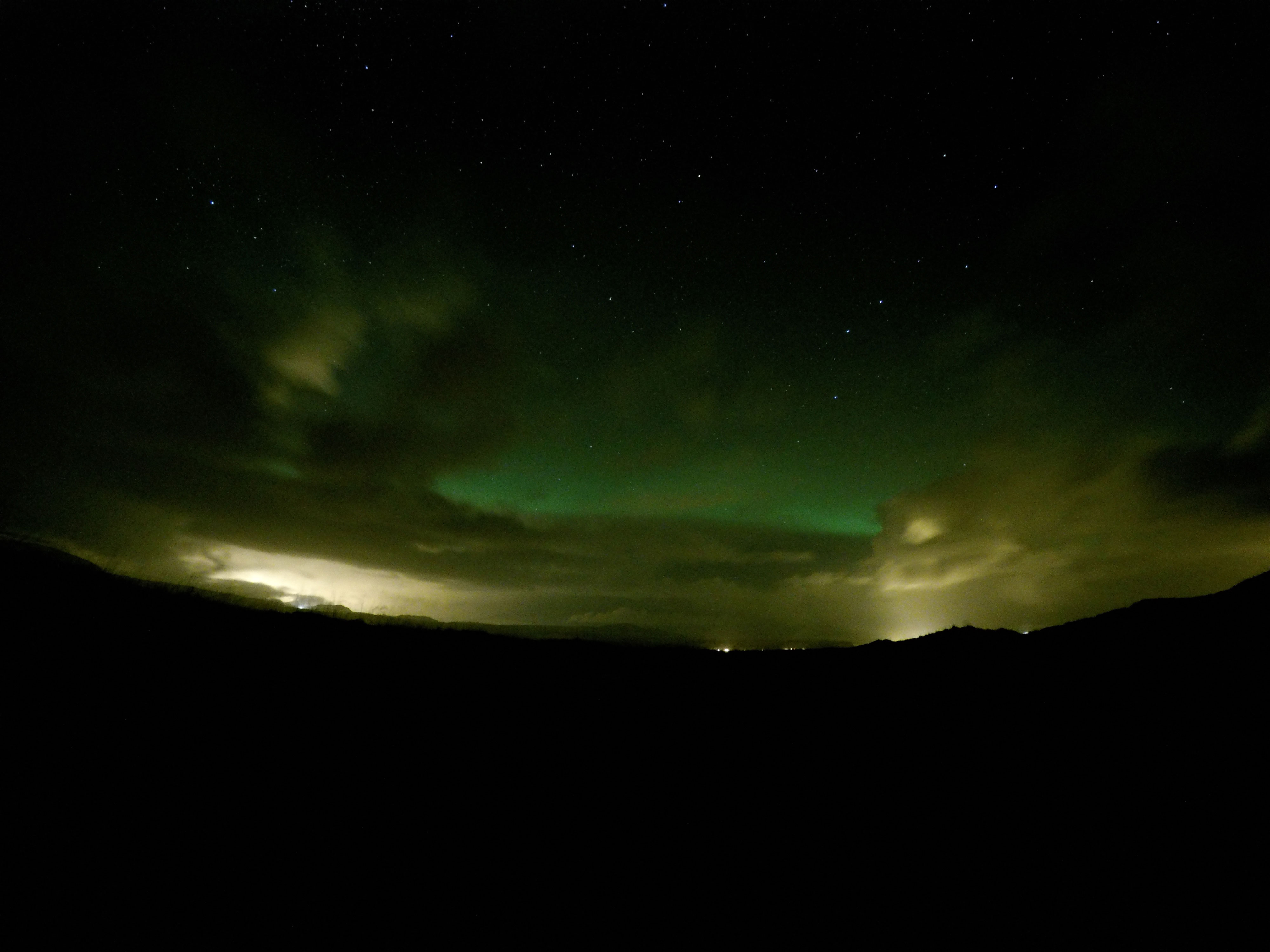Northern Lights from Iceland honeymoon