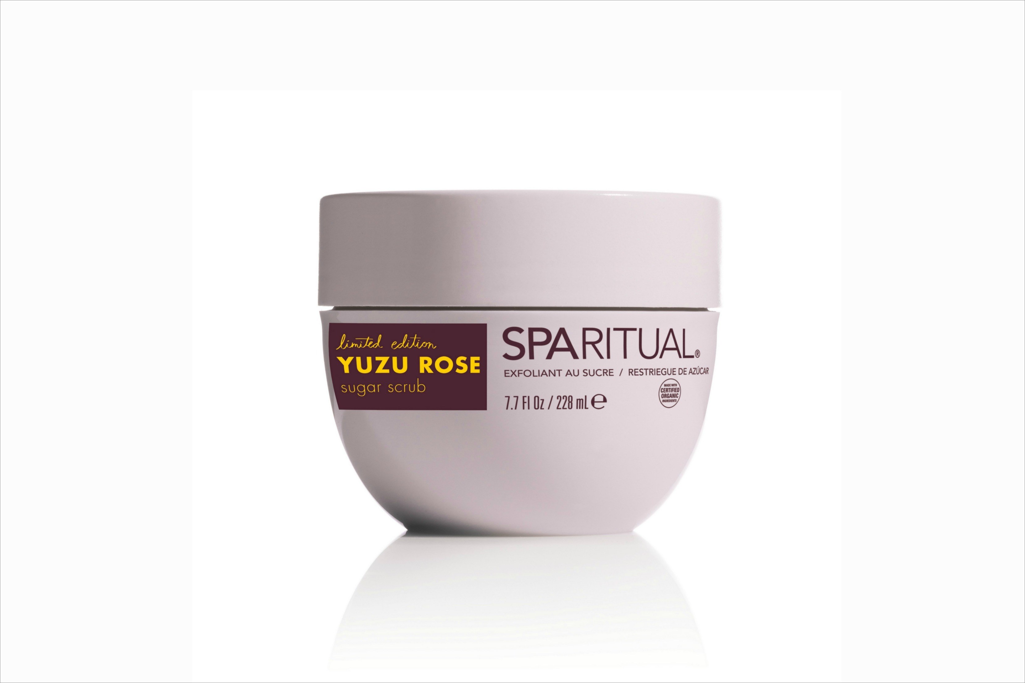 SpaRitual limited edition Yuzu Rose sugar scrub
