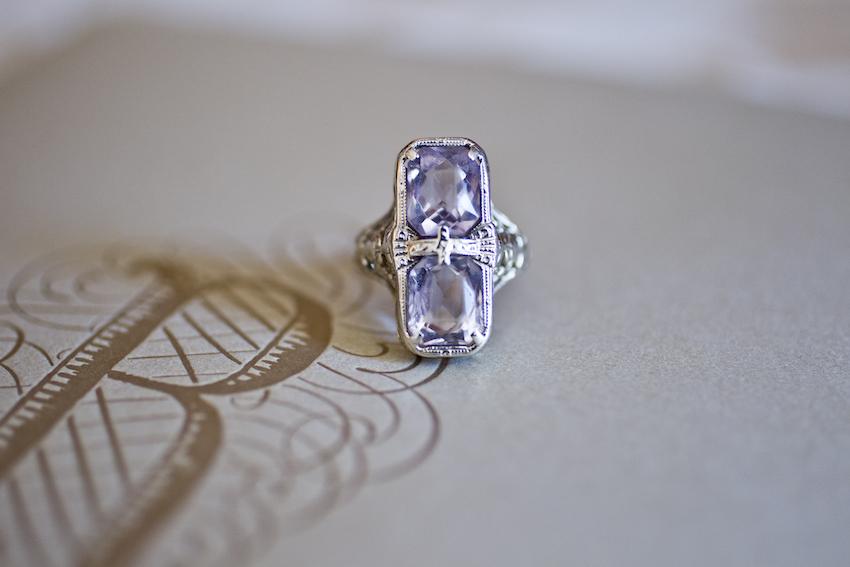 amethyst vintage ring, pippa middleton engagement ring inspiration