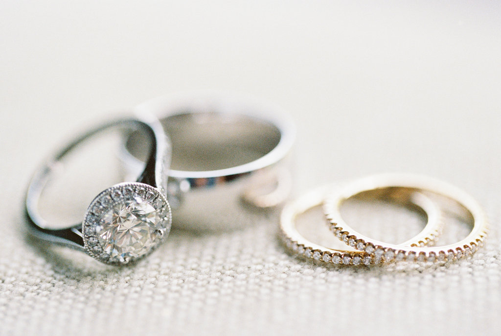 round bezel set halo diamond ring, pippa middleton inspiration engagement ring