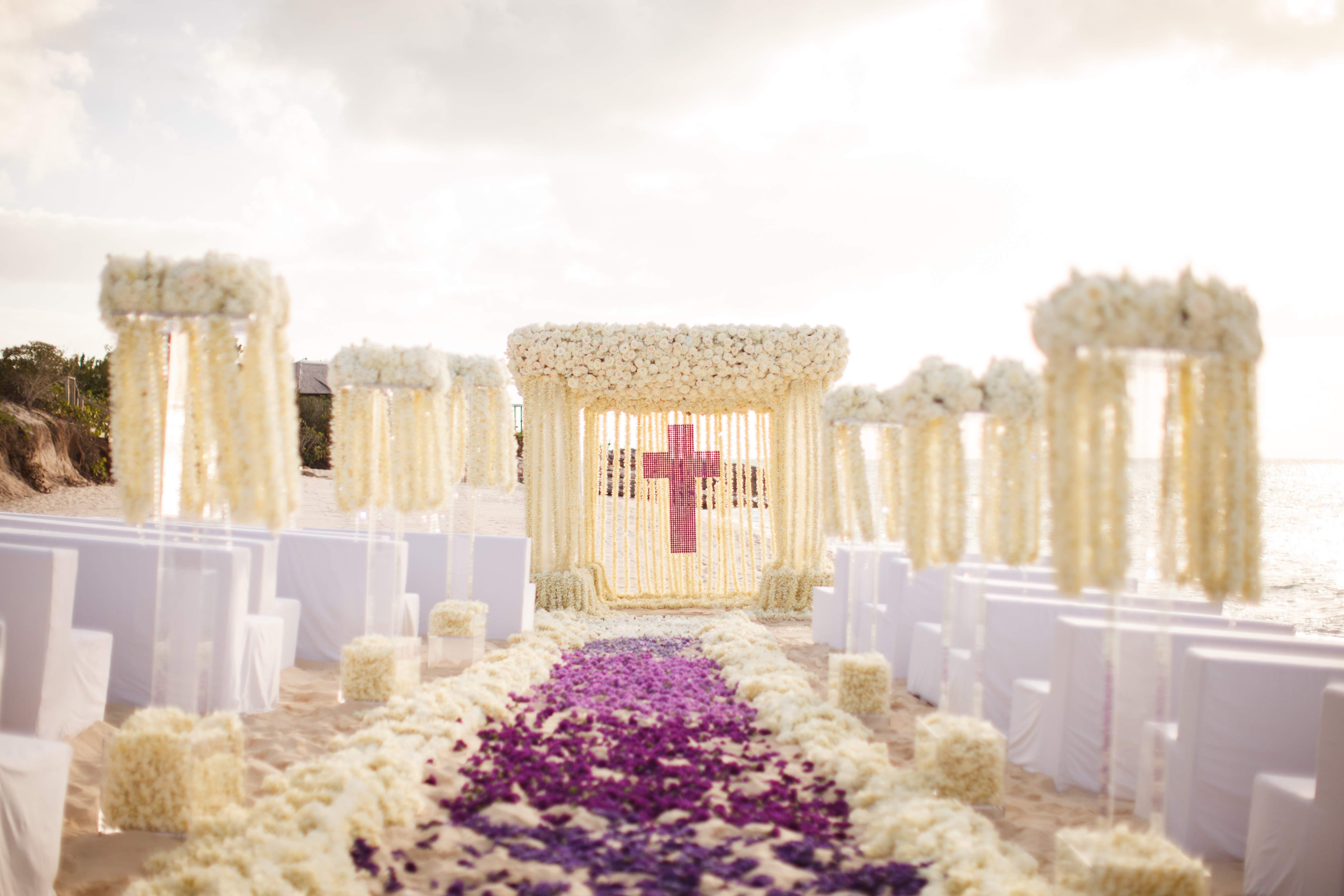 wedding ideas beautiful ceremony floral aisle runner designs