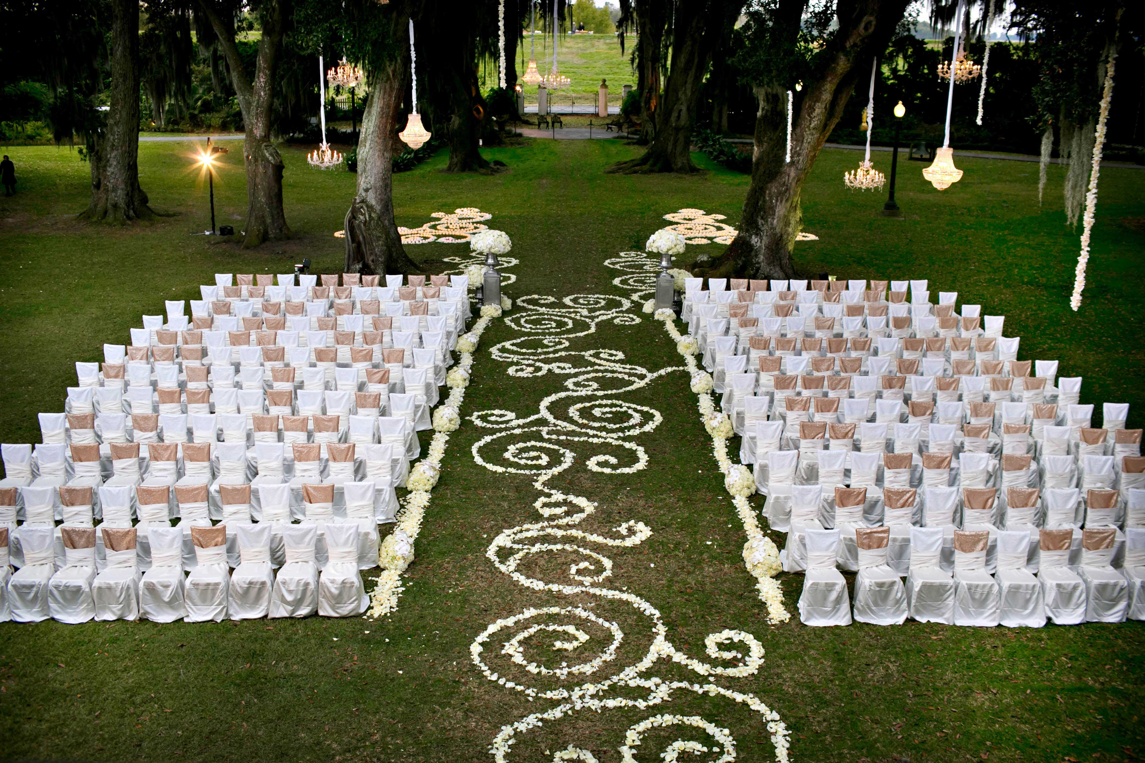 Wedding Ideas Beautiful Ceremony Floral Aisle Runner