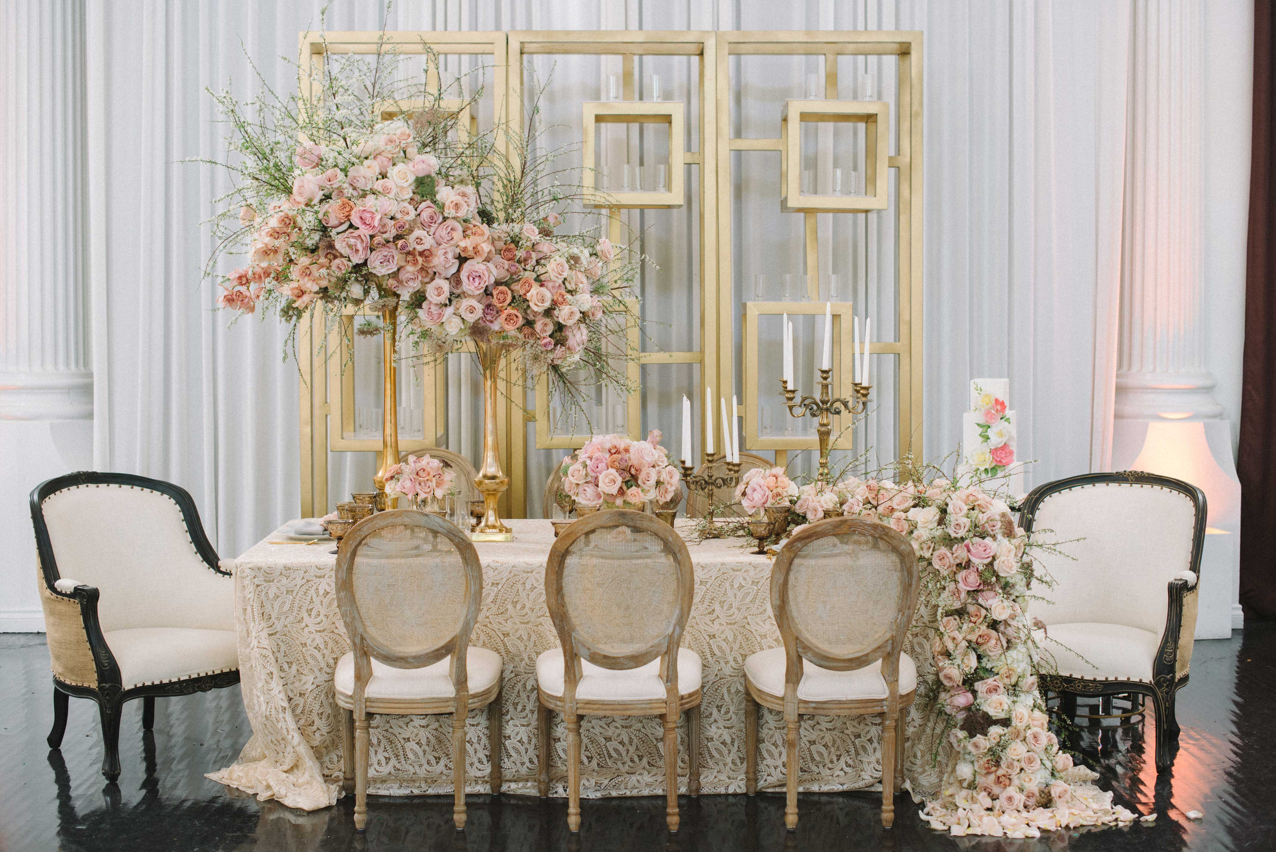 Wedding Color Palette Pink And Gold Wedding Ideas Inside Weddings