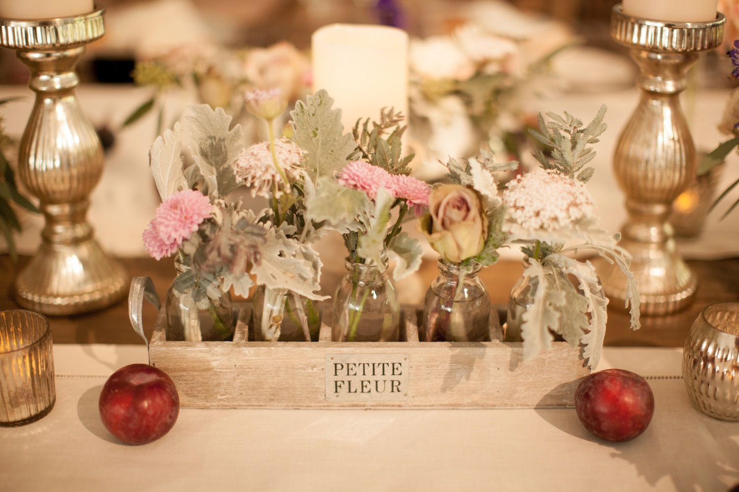 Wedding ideas rustic centerpieces inside