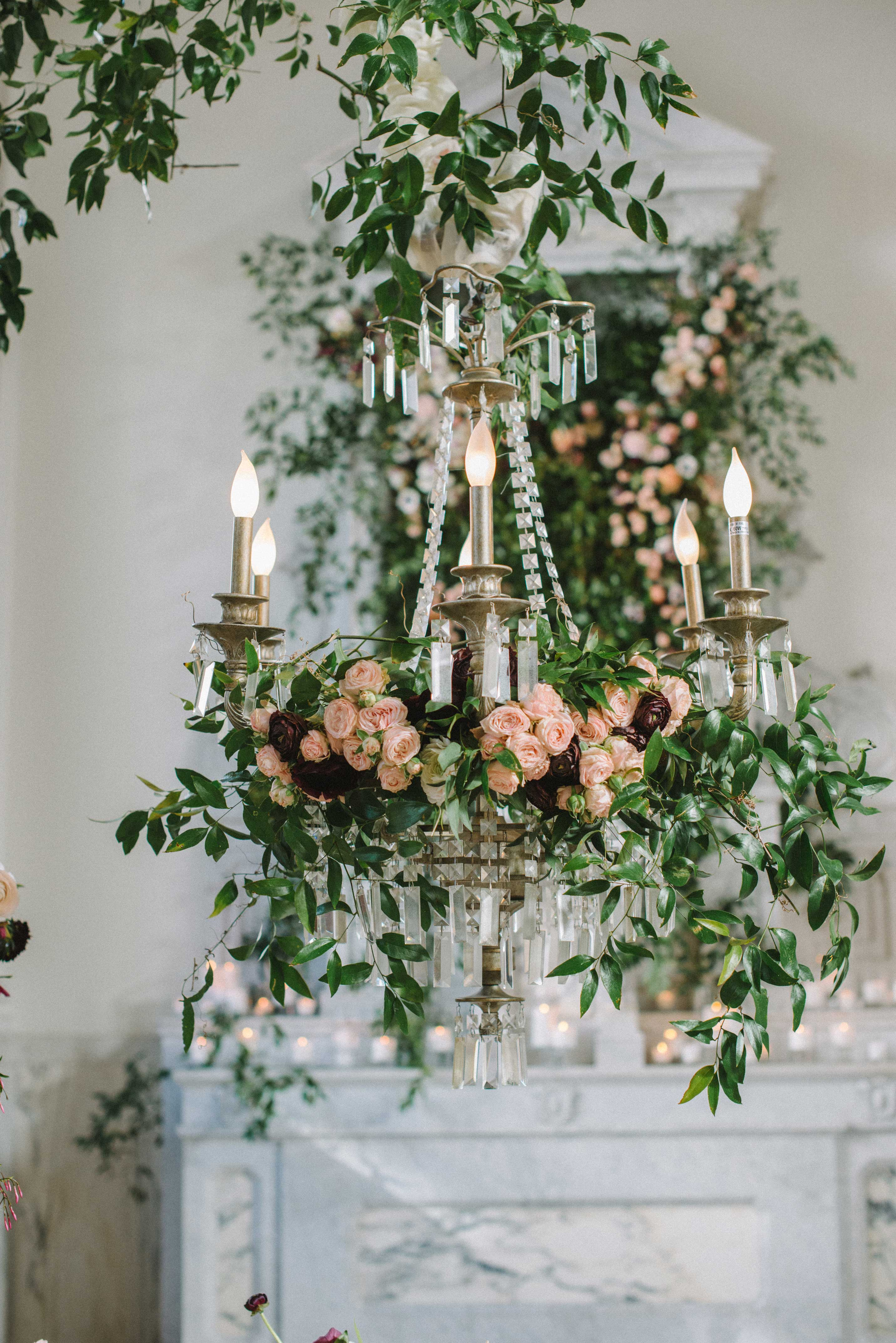 Floral Fixtures From Weddings Suspended From The Ceiling