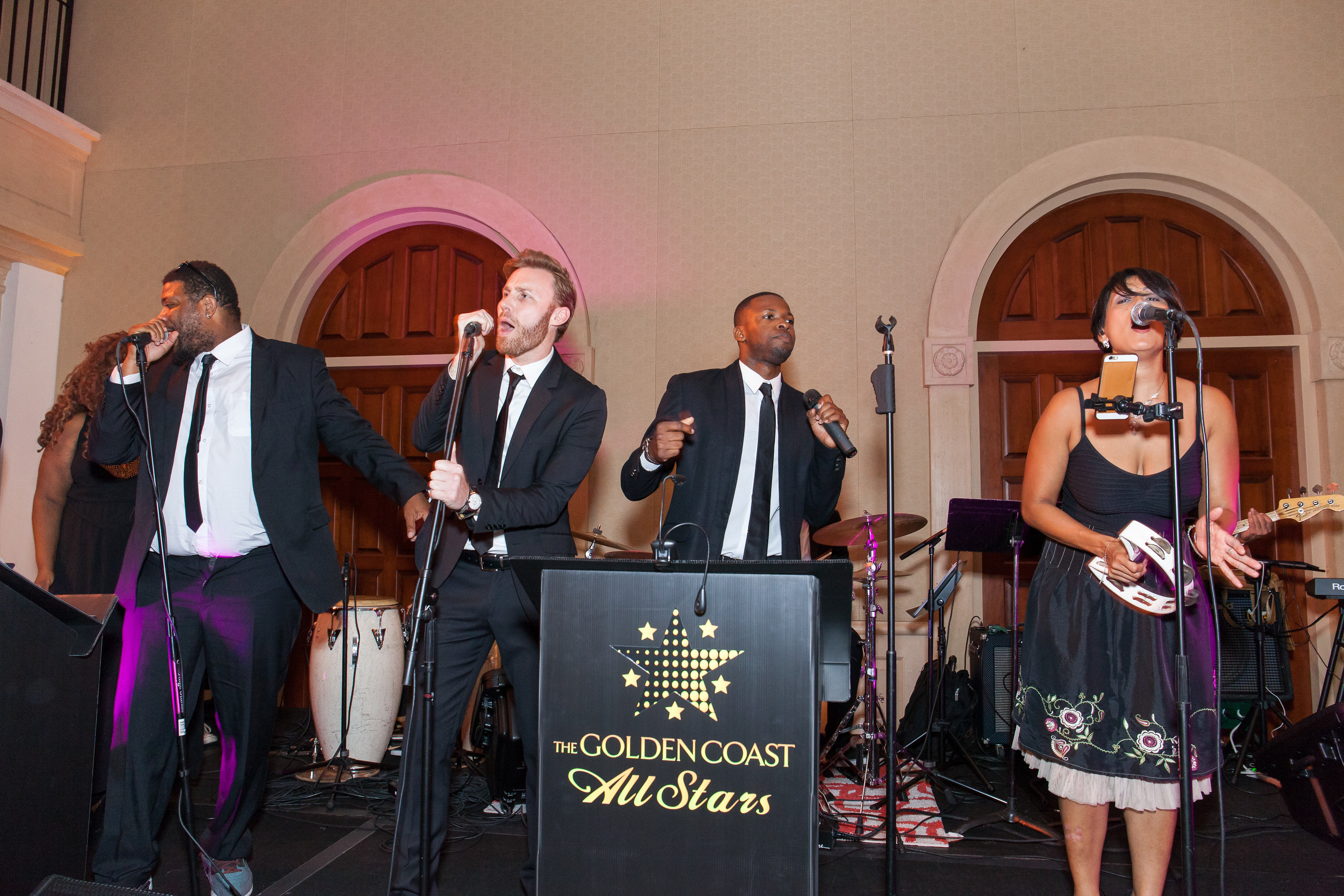 The Golden Coast All Stars band at wedding reception