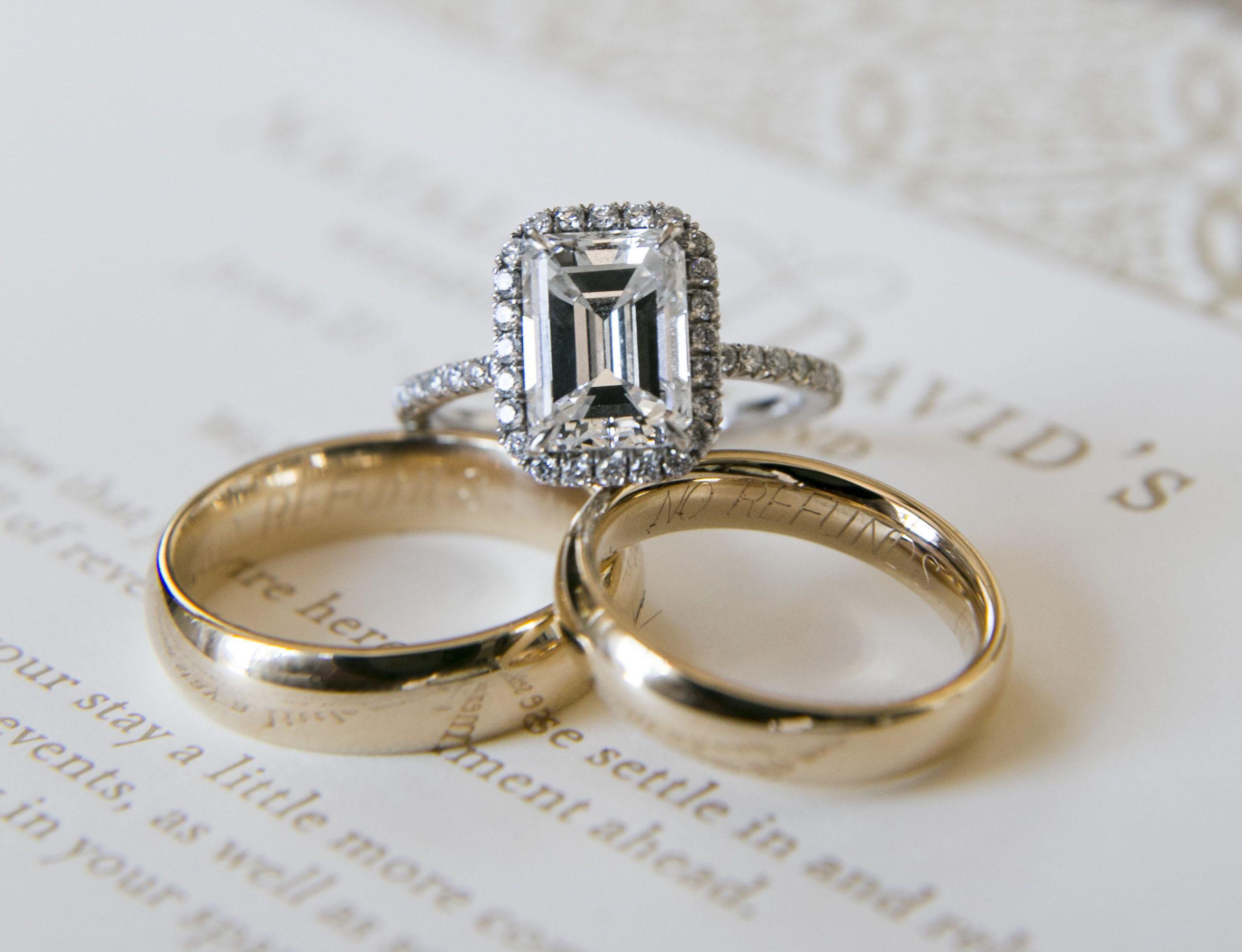 Adrienne bailon engagement ring inspiration emerald cut halo diamond