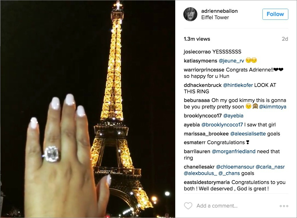 Get The Look Of Adrienne Bailon S Engagement Ring Inside
