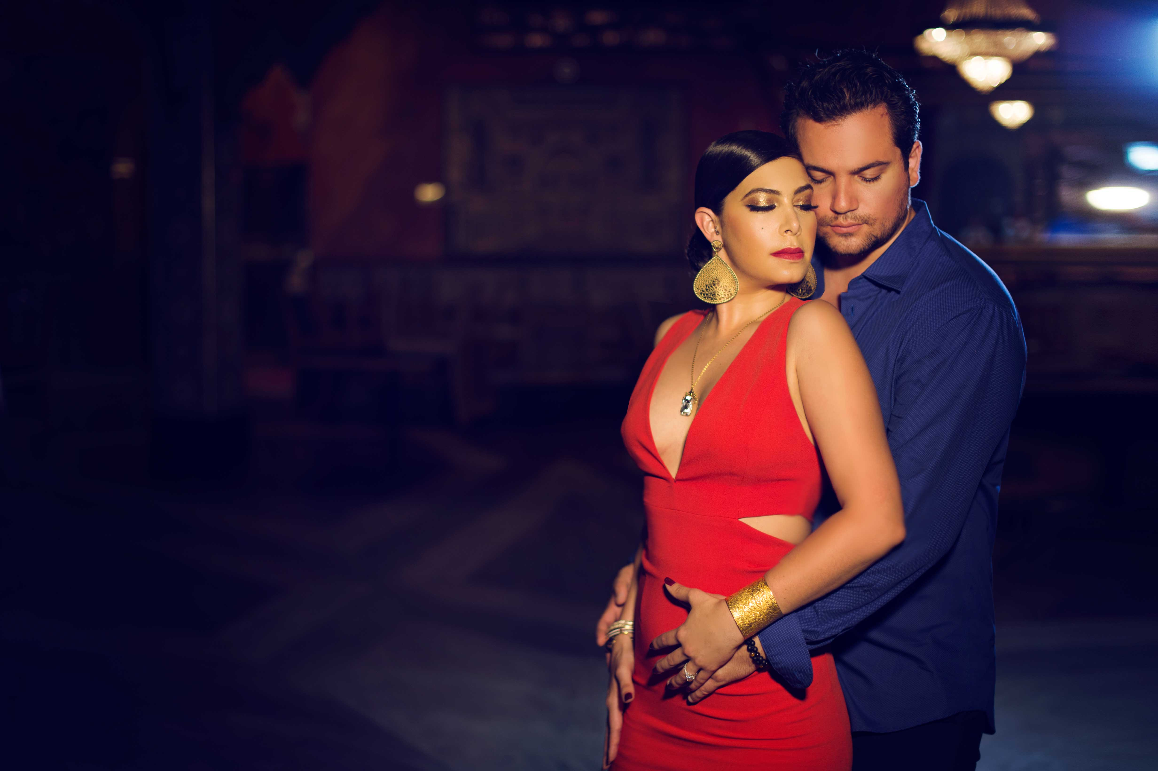 Carasco Photography styled engagement shoot photo session tango red dress