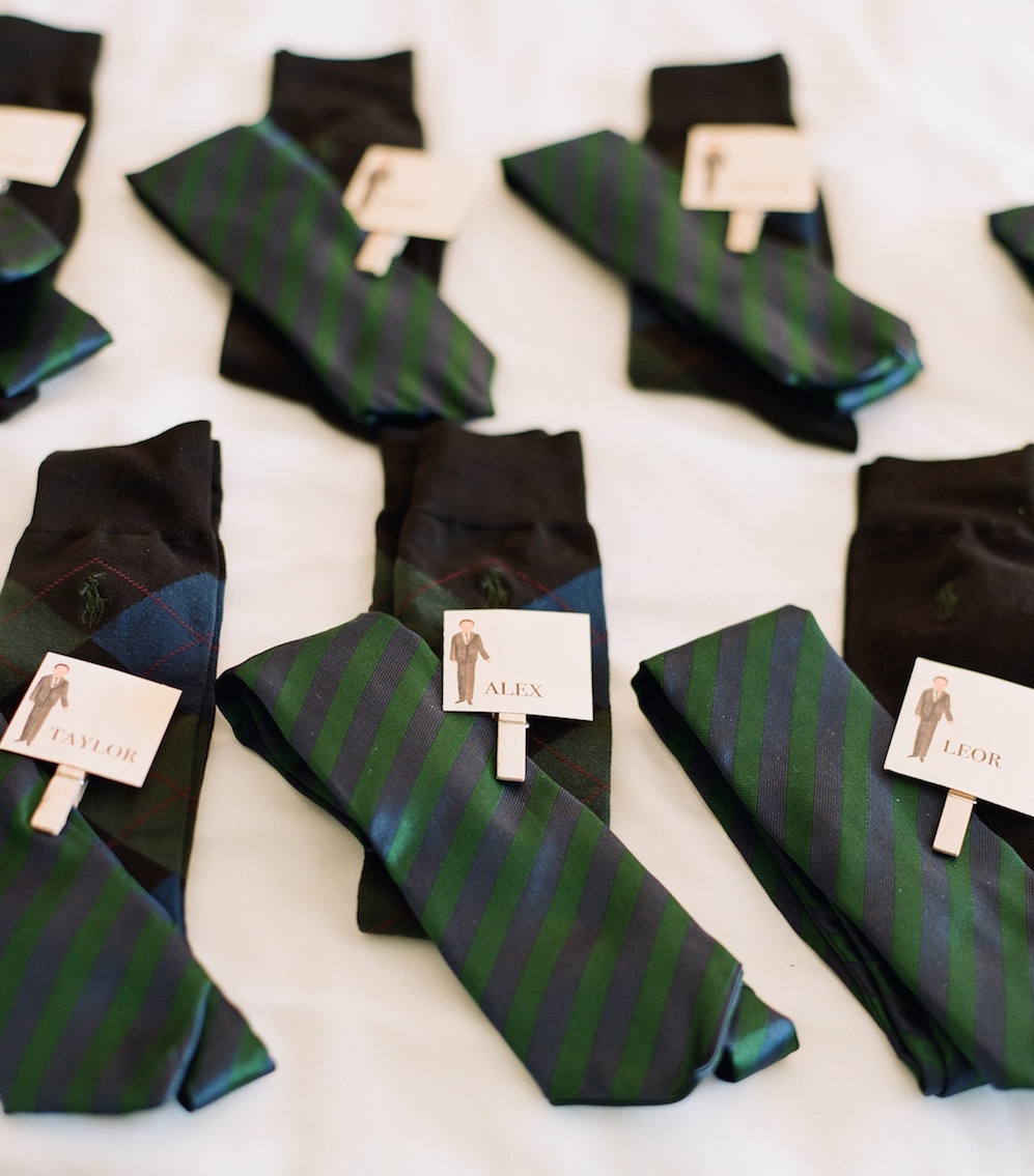 green and navy blue striped ties for groomsmen gifts