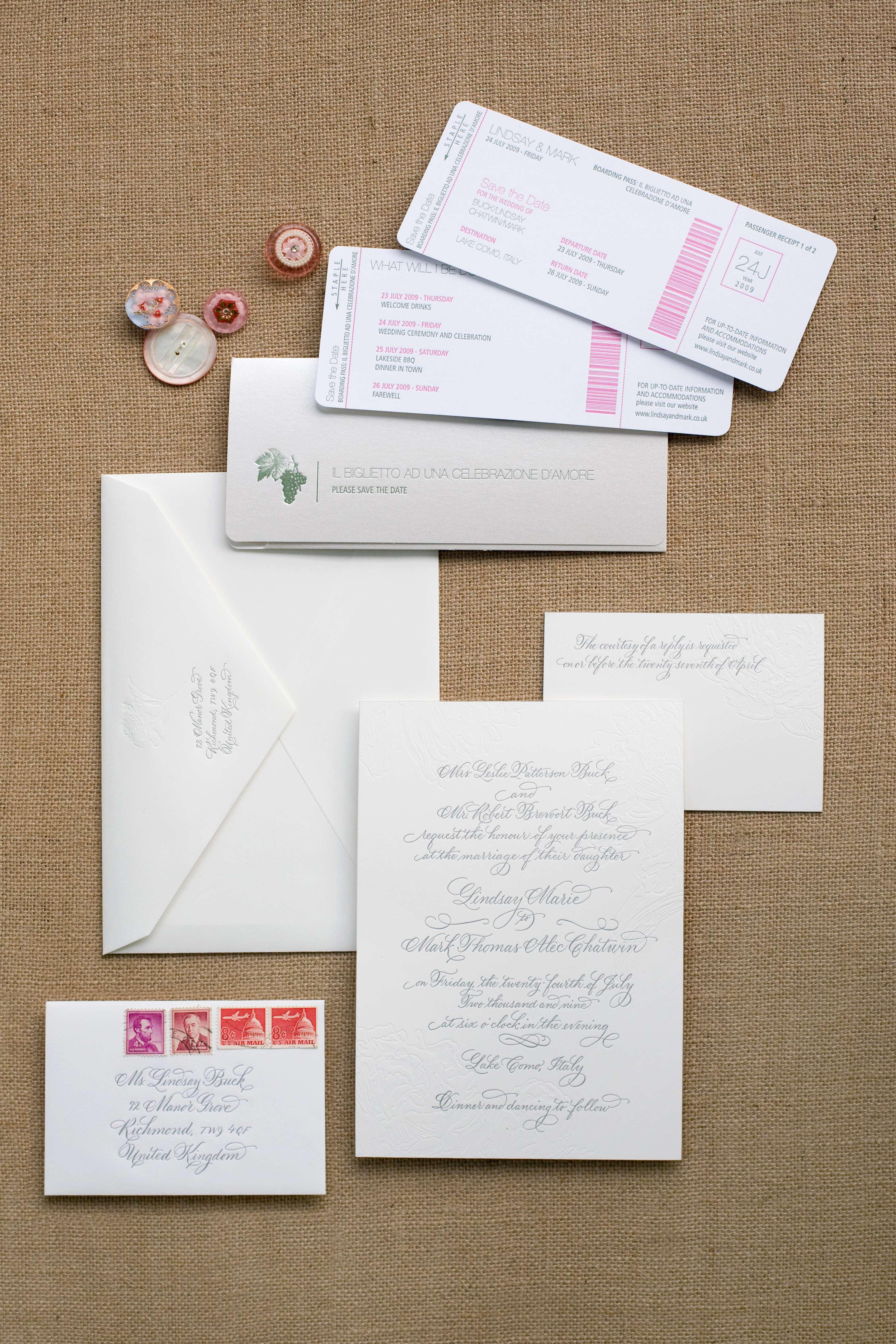 invitation suite for destination wedding