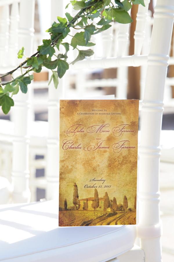 old-world inspired tuscan wedding invitation