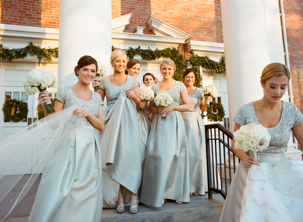 Bridesmaid Dresses: Metallic Bridesmaid Dress Styles from Real ...