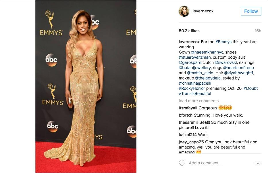 Laverne Coz 2016 Emmy Awards, Naeem Khan
