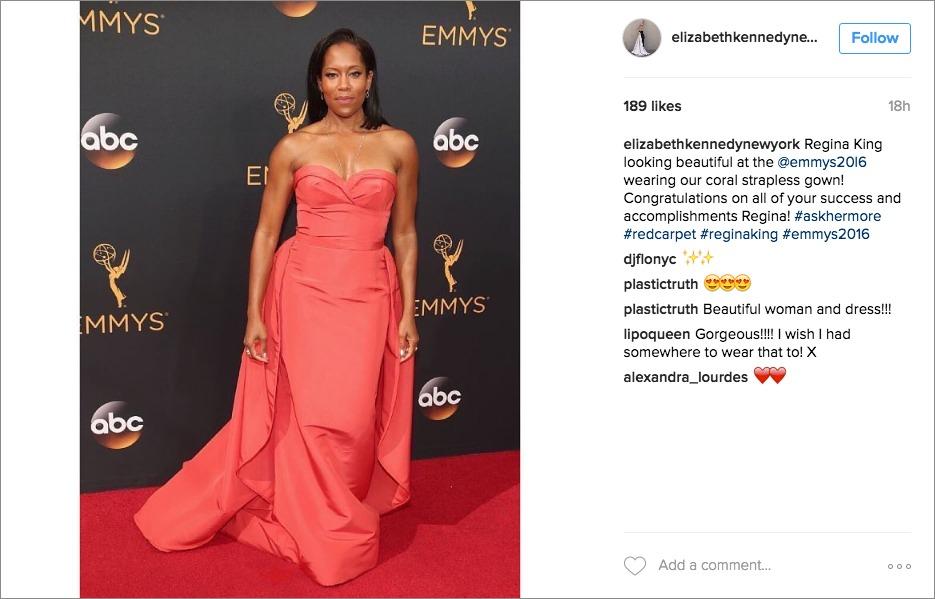 regina king 2016 Emmy awards, Elizabeth Kennedy