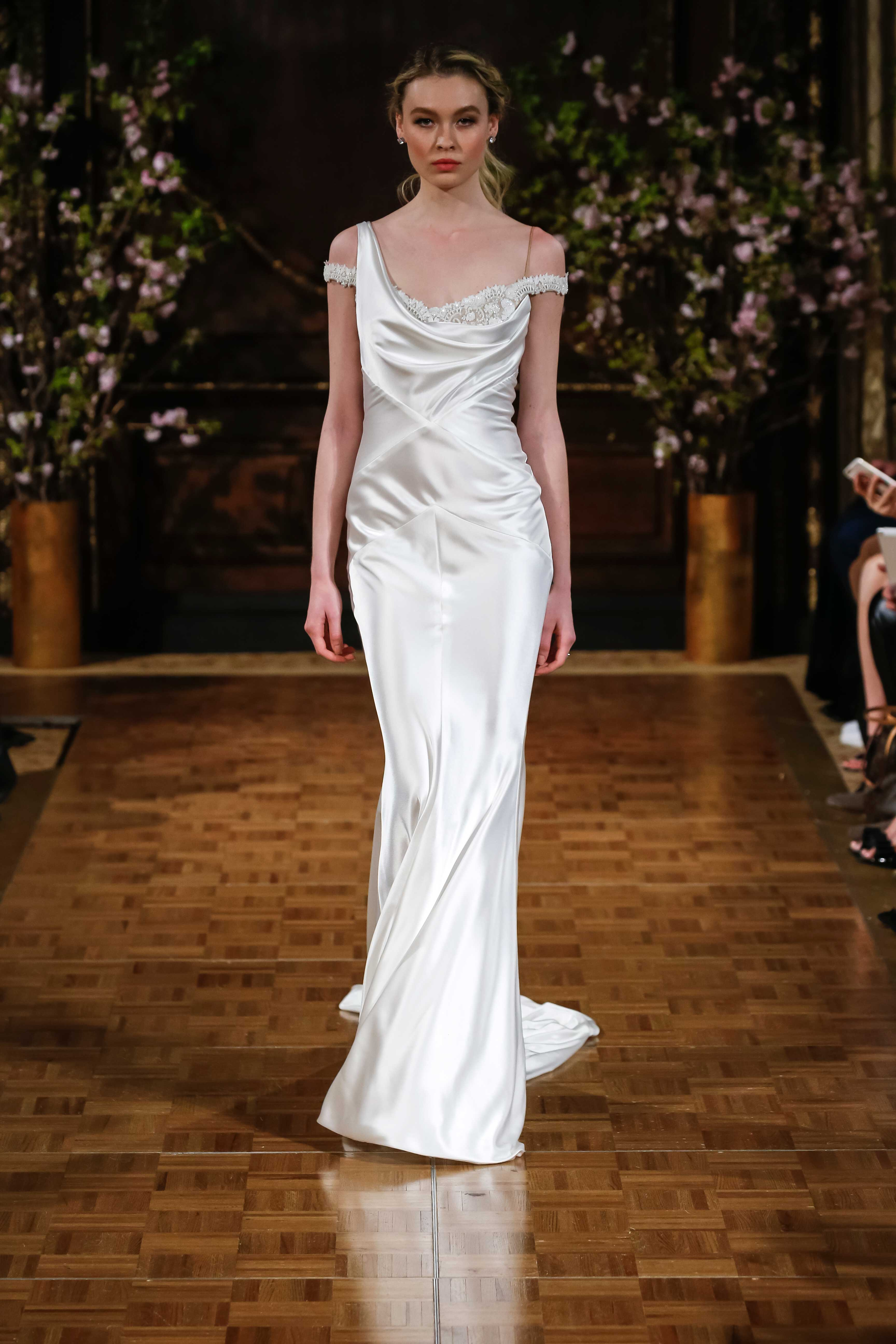 isabelle armstrong one shoulder wedding dress with bling, sofia vergara emmys inspiration