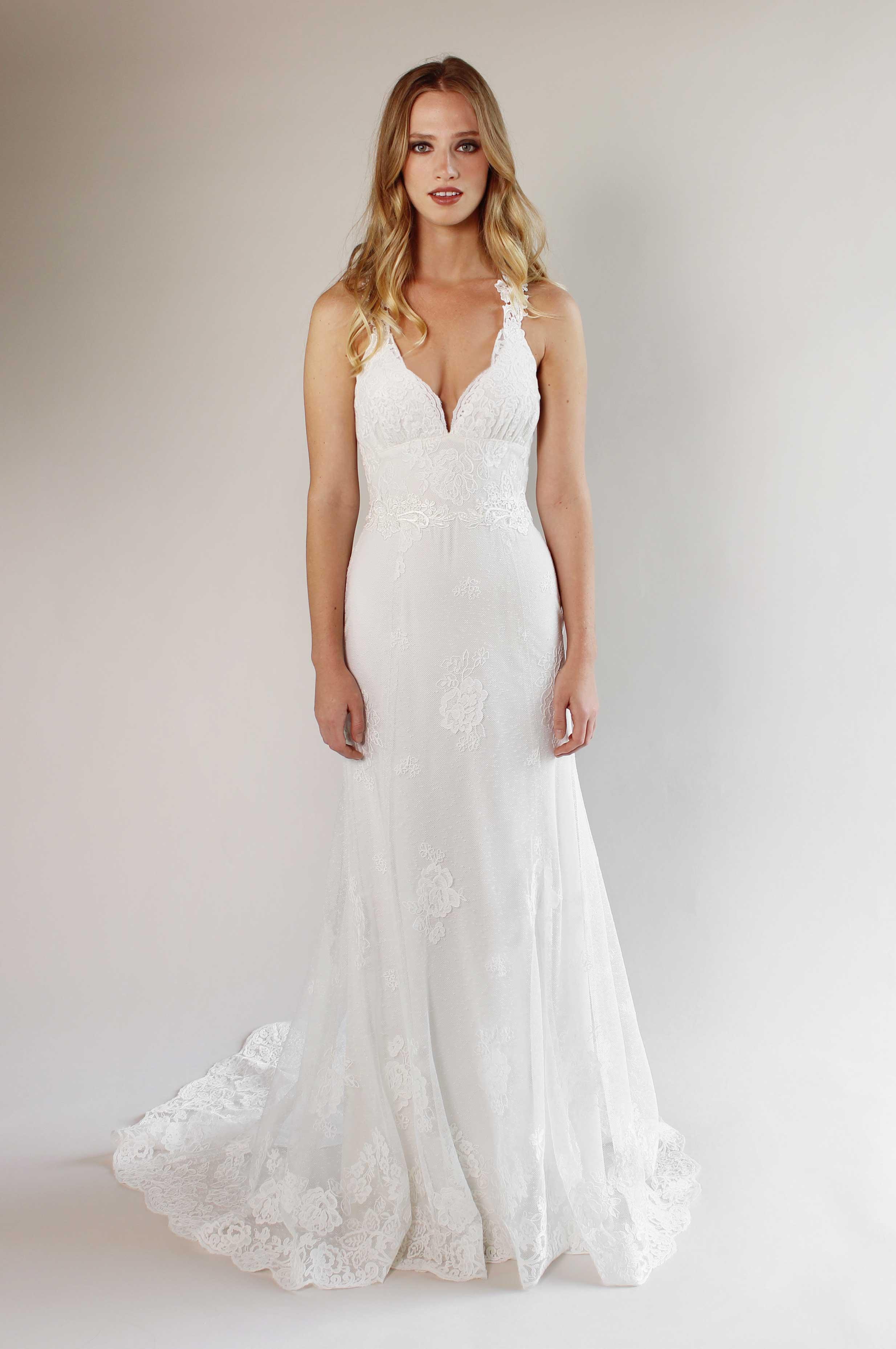 Claire Pettibone wedding dress, tina fey emmys inspiration