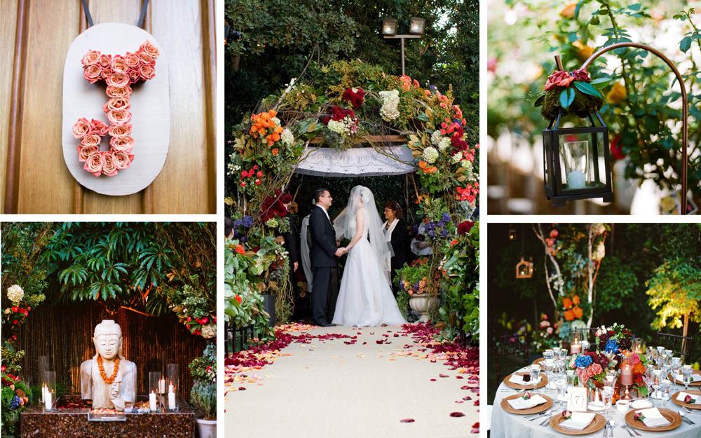 Colorful Bohemian wedding fall decor ideas