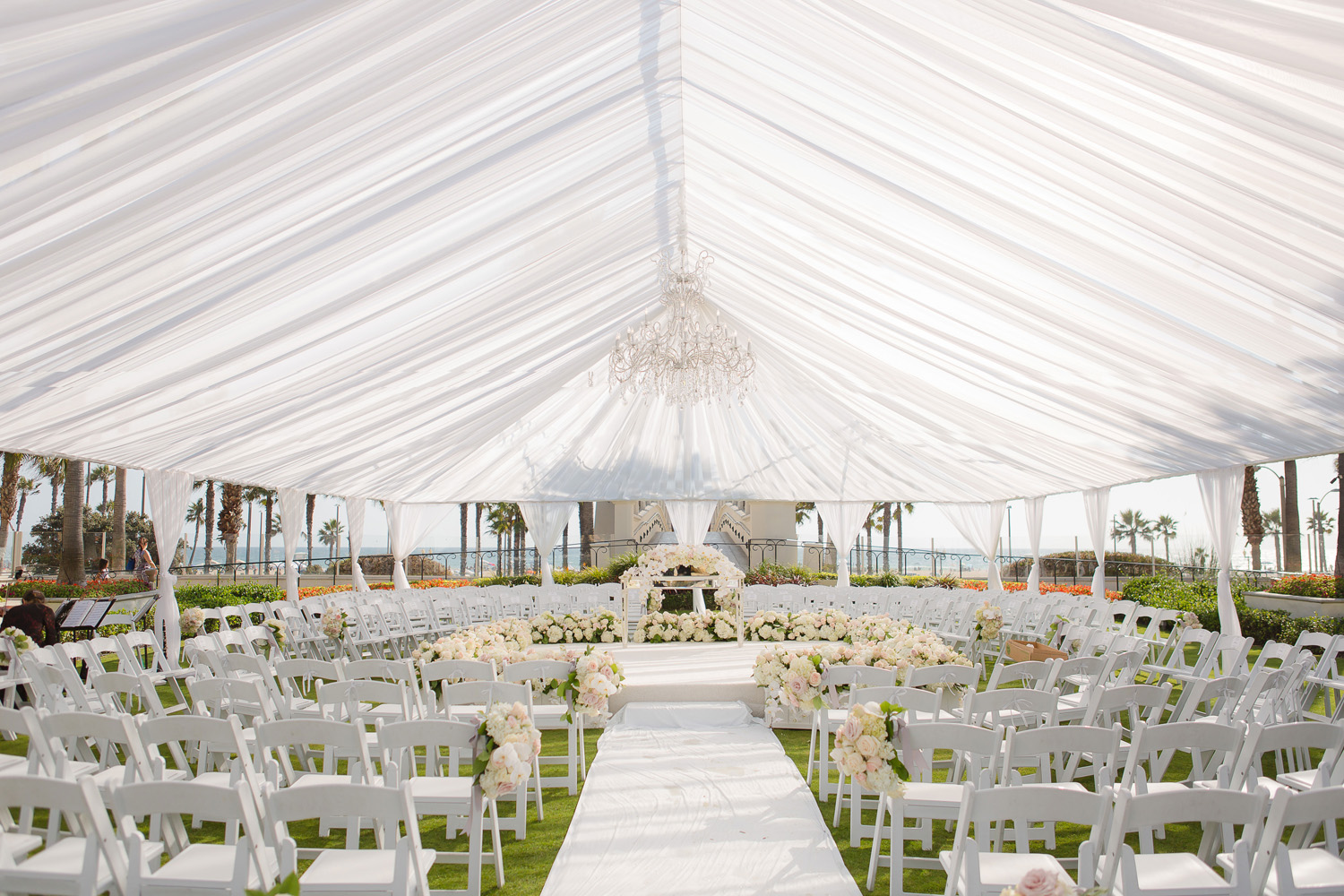 southern california vow renewal, outdoor tented ceremony