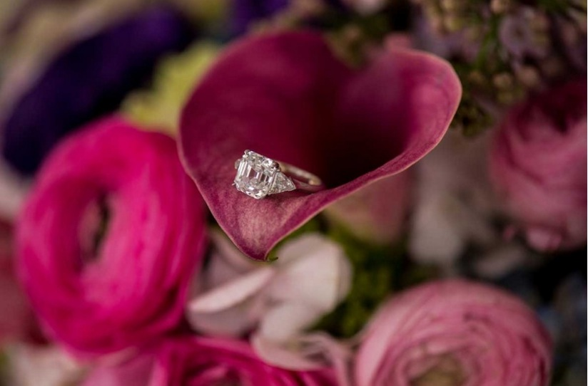 samira wiley engagement ring inspiration, asscher cut diamond with triangular side stones