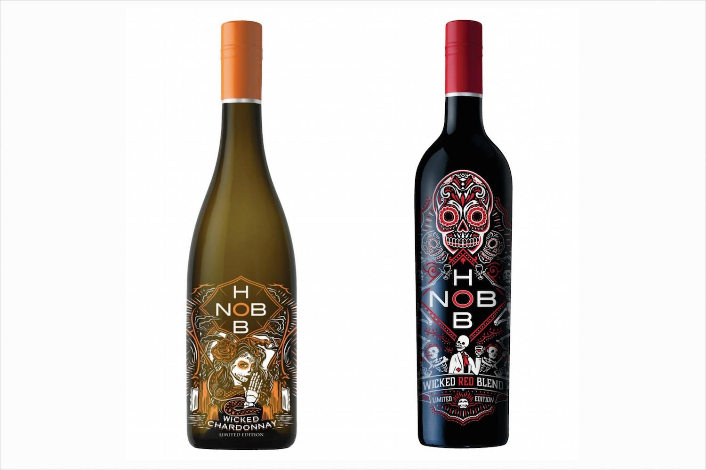 dia de los muertos inspired hob nob wine chardonnay and red wine