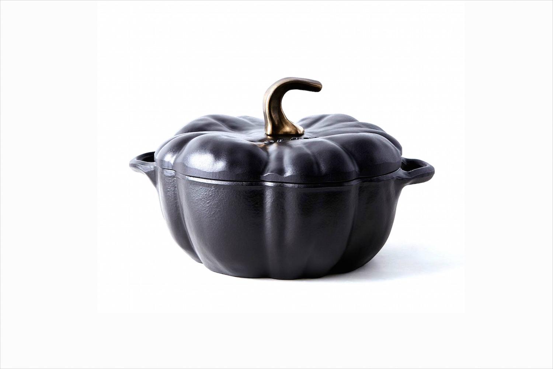 Black pumpkin pot for kitchen wedding halloween