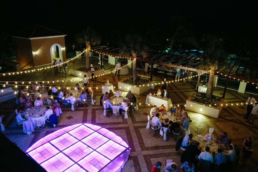 light-up dance floor wedding reception