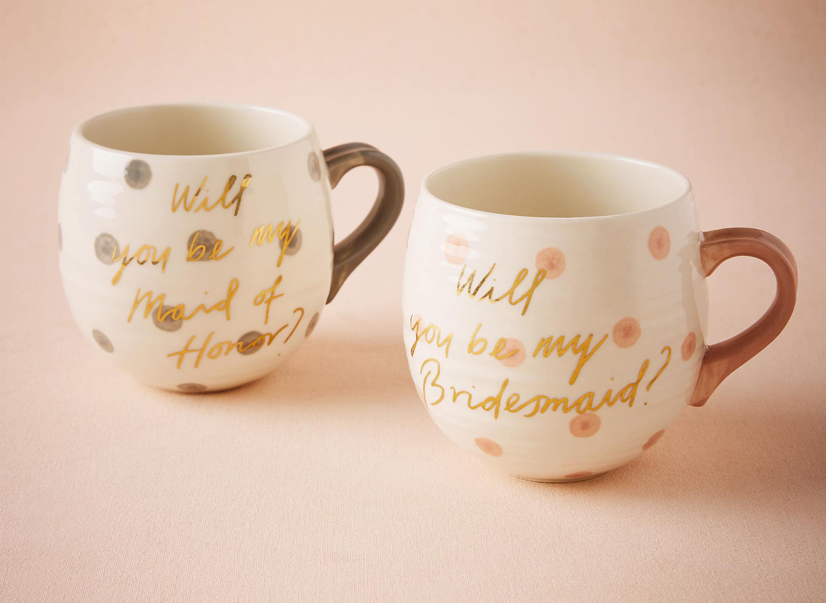 BHLDN will you be my bridesmaid maid of honor mug tea cup gift ideas
