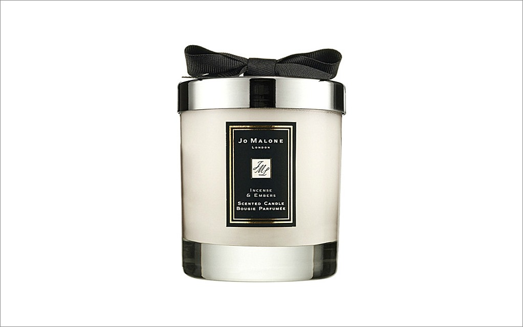 Jo Malone Incense and Embers candle black bow bridesmaid gift idea