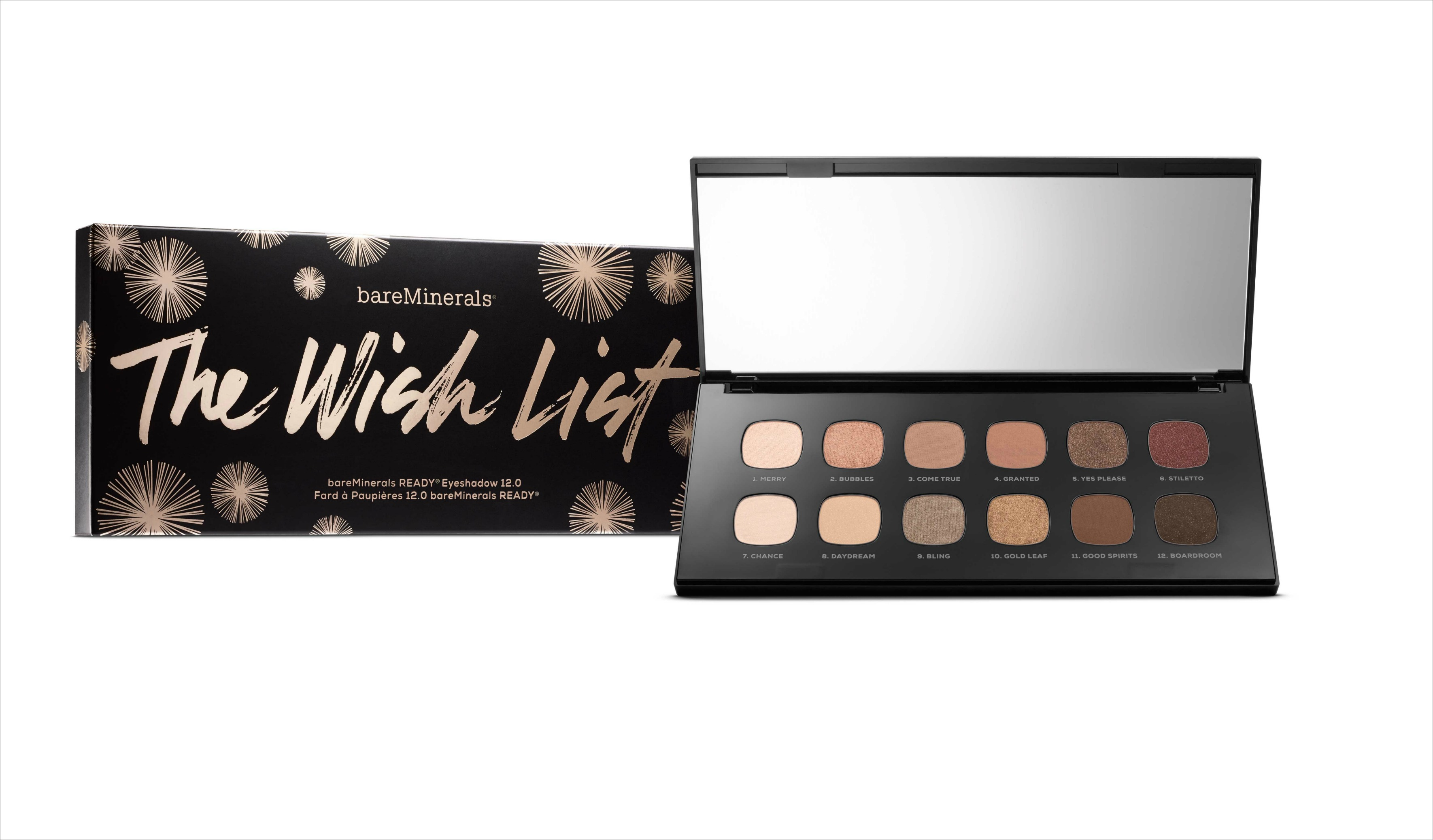 Bare Minerals The Wish List eye shadow palette holiday gift ideas bridesmaids